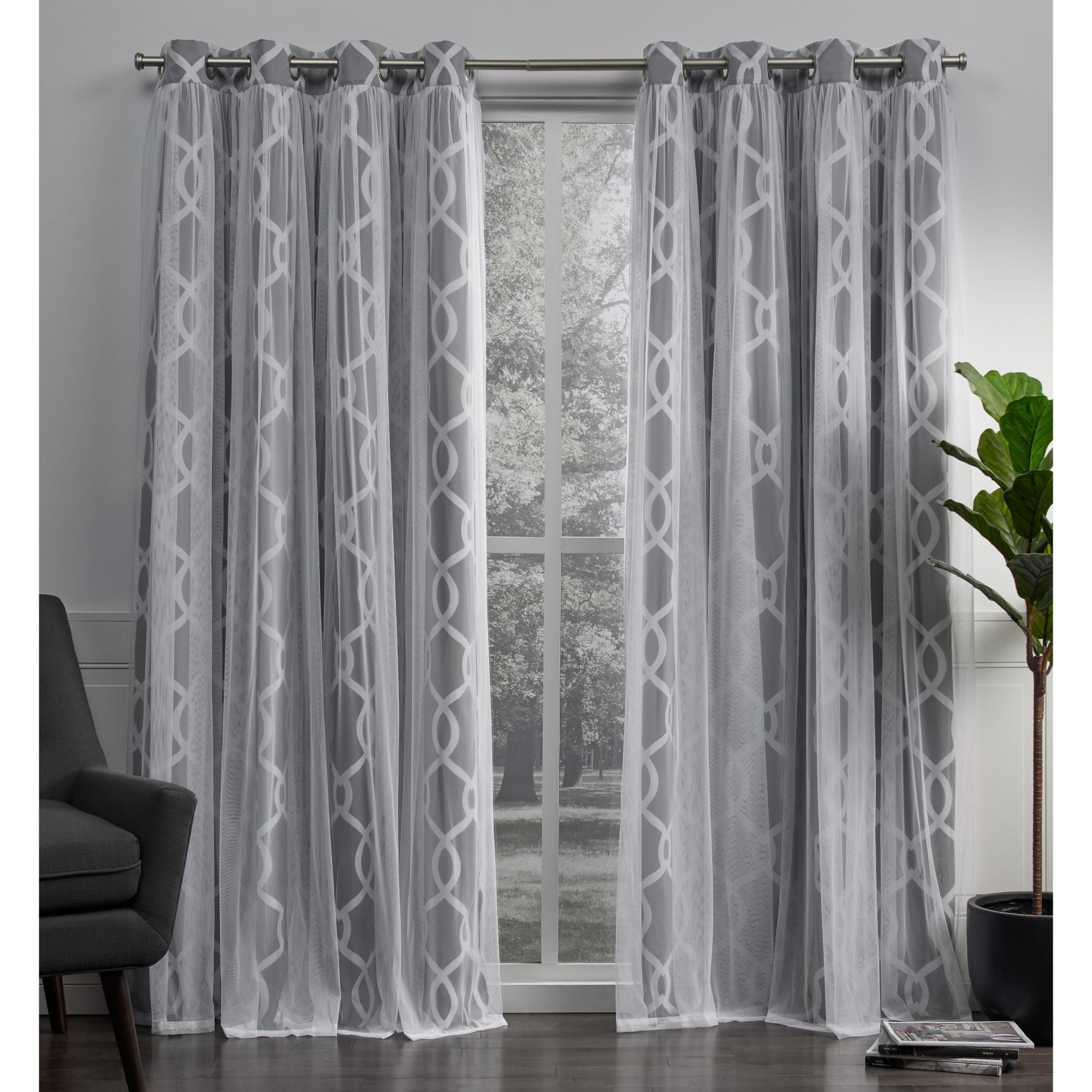 Most Recent Thermal Woven Blackout Grommet Top Curtain Panel Pairs In Ati Home Carmela Thermal Woven Blackout Grommet Top Curtain Panel Pair (View 8 of 20)