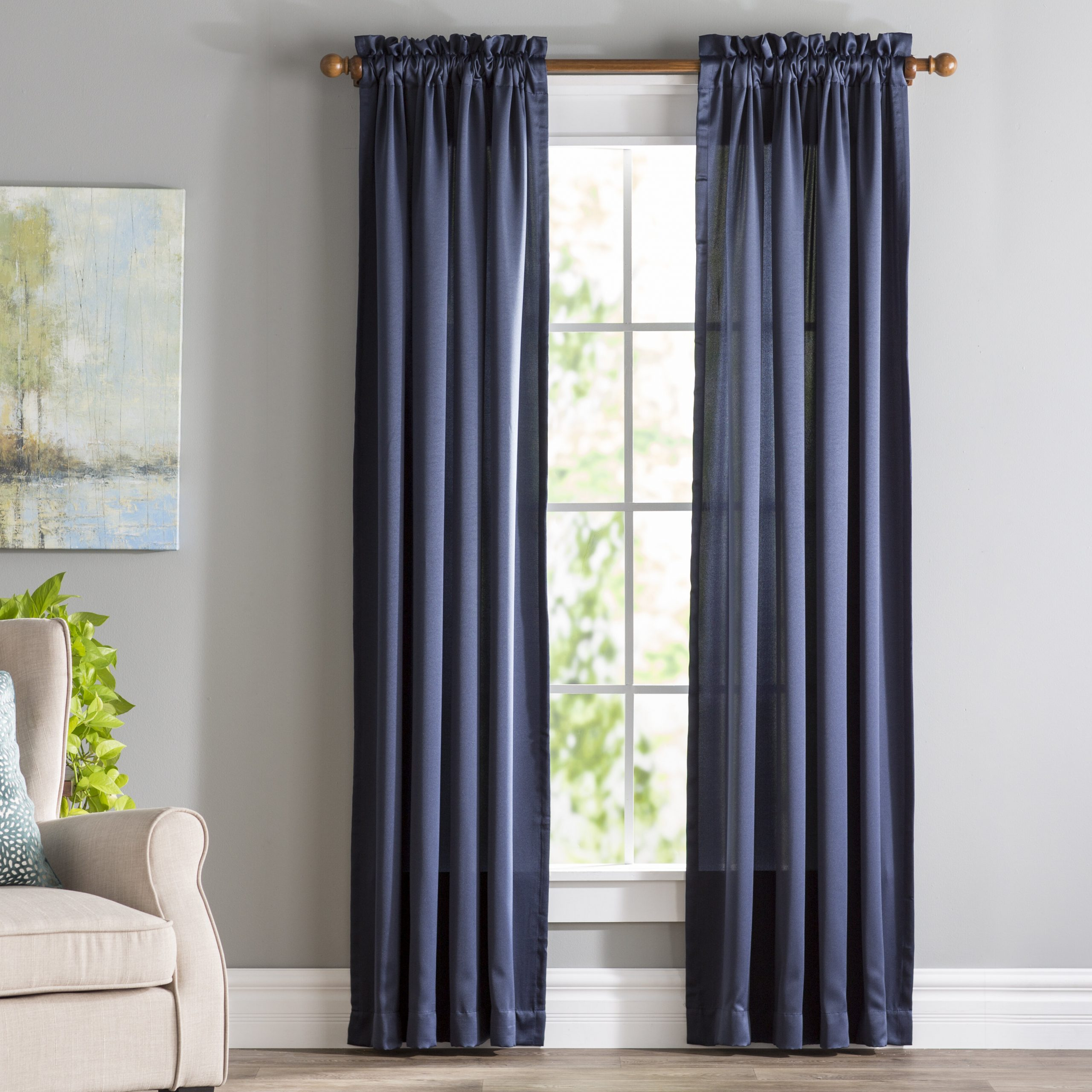 Most Recent Wayfair Basics Solid Room Darkening Rod Pocket Single Curtain Panel Inside Single Curtain Panels (View 2 of 20)