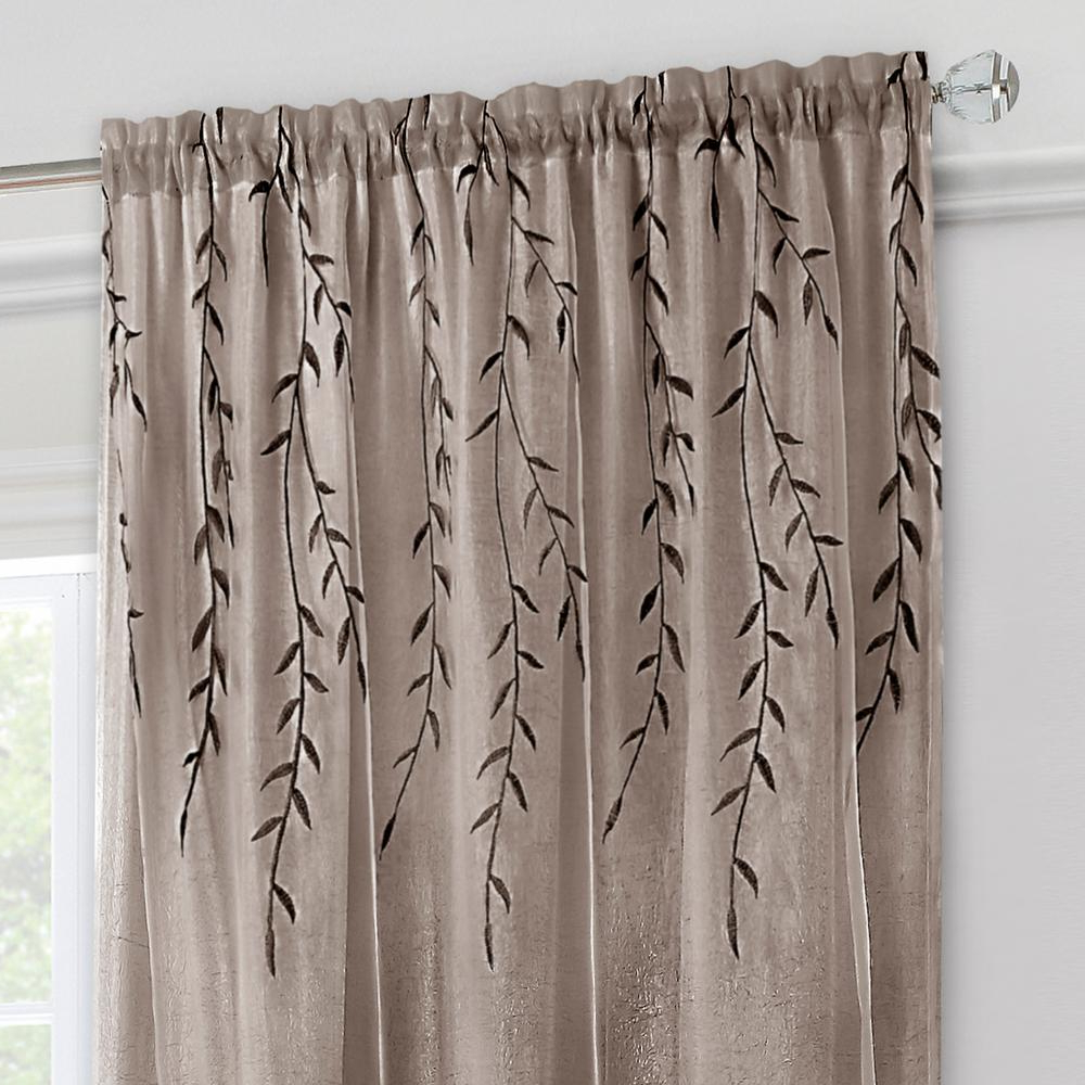 Most Recent Willow Rod Pocket Window Curtain Panels With Achim Willow Toffee Polyester Rod Pocket Curtain – 42 In. W X 84 In (View 7 of 20)