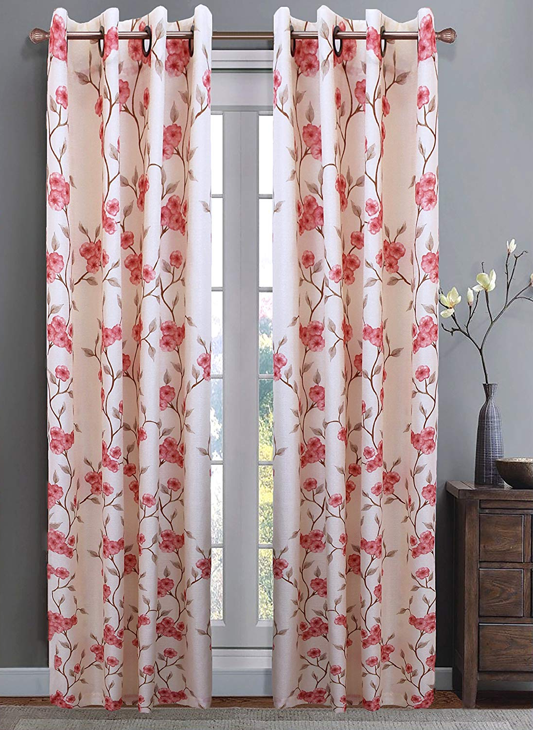 Most Recently Released Amazon: Venice Collections Luxury Printed Window Curtain Intended For Luxury Collection Venetian Sheer Curtain Panel Pairs (View 19 of 20)