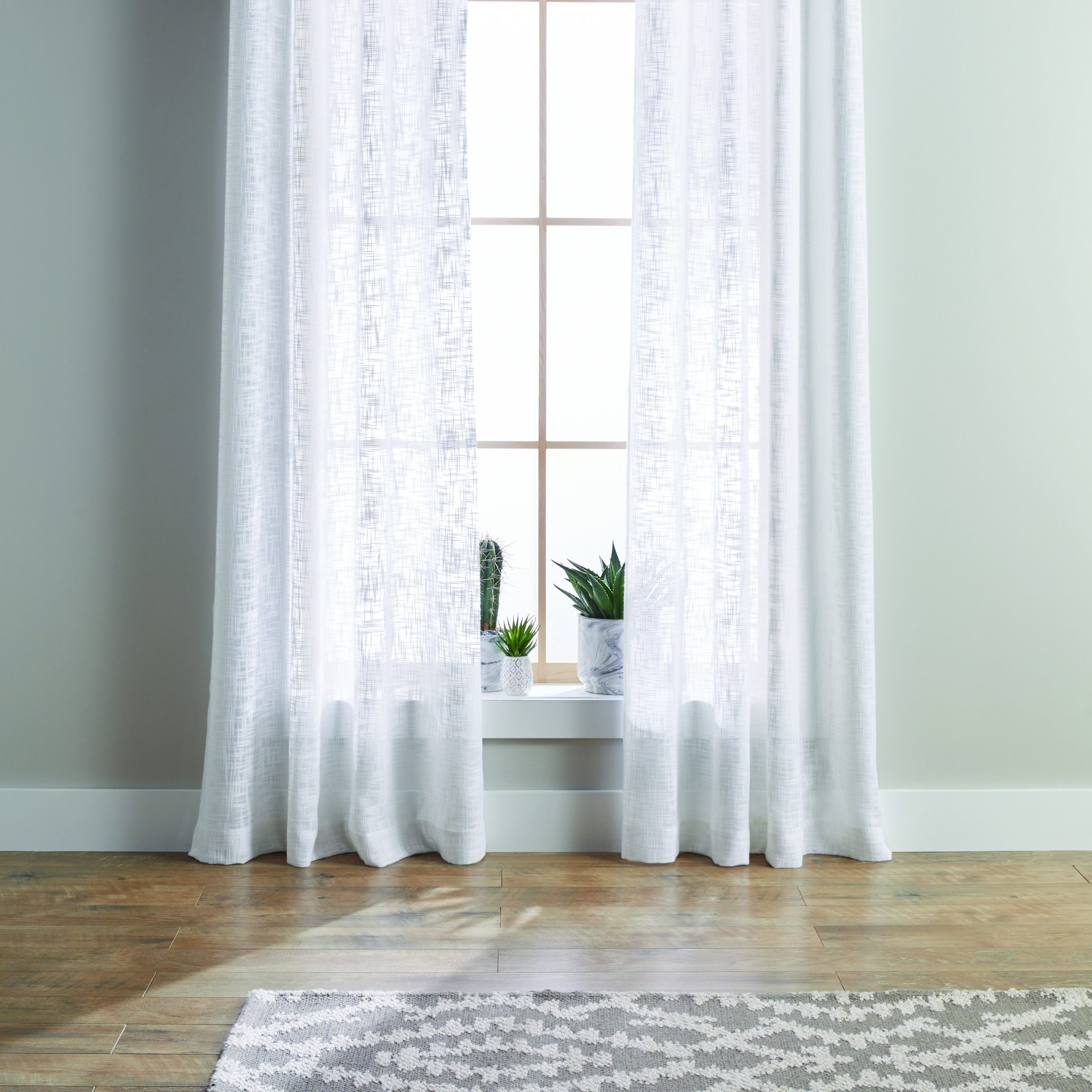 Most Recently Released Archaeo Slub Textured Linen Blend Grommet Top Curtains In Better Homes & Gardens Slub Sheer Single Window Curtain (View 15 of 20)