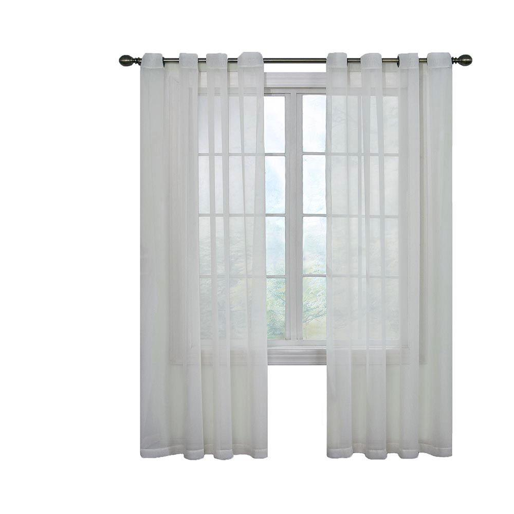 Most Recently Released Arm And Hammer Curtains Fresh Odor Neutralizing Single Curtain Panels Inside Curtain Fresh Arm And Hammer Odor Neutralizing Sheer Window Curtain Panel In White – 59 In. W X 84 In (View 2 of 20)