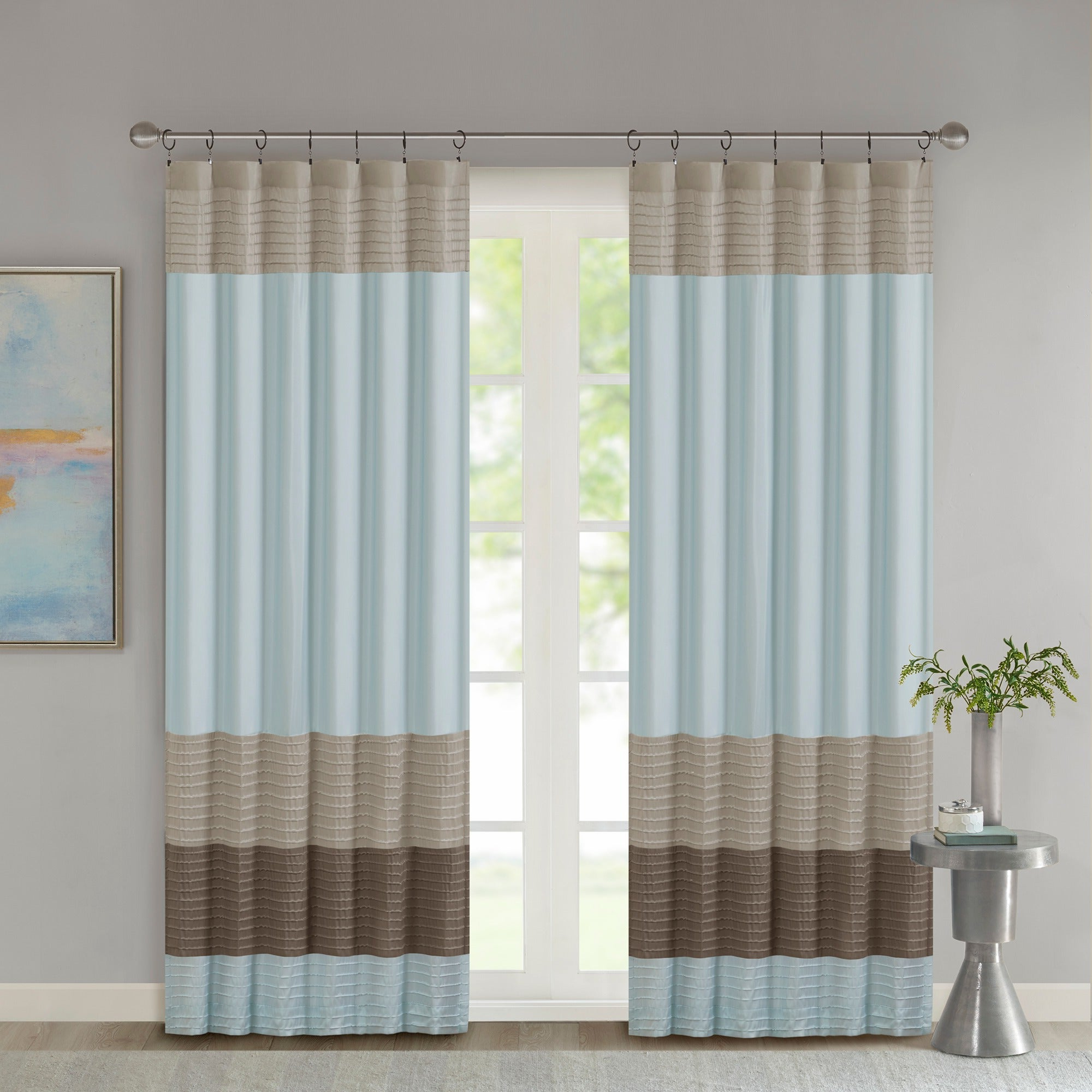 Most Recently Released Chester Polyoni Pintuck Curtain Panels In Madison Park Tradewinds Polyoni Pintuck Single Curtain Panel – 50 X  (View 16 of 20)