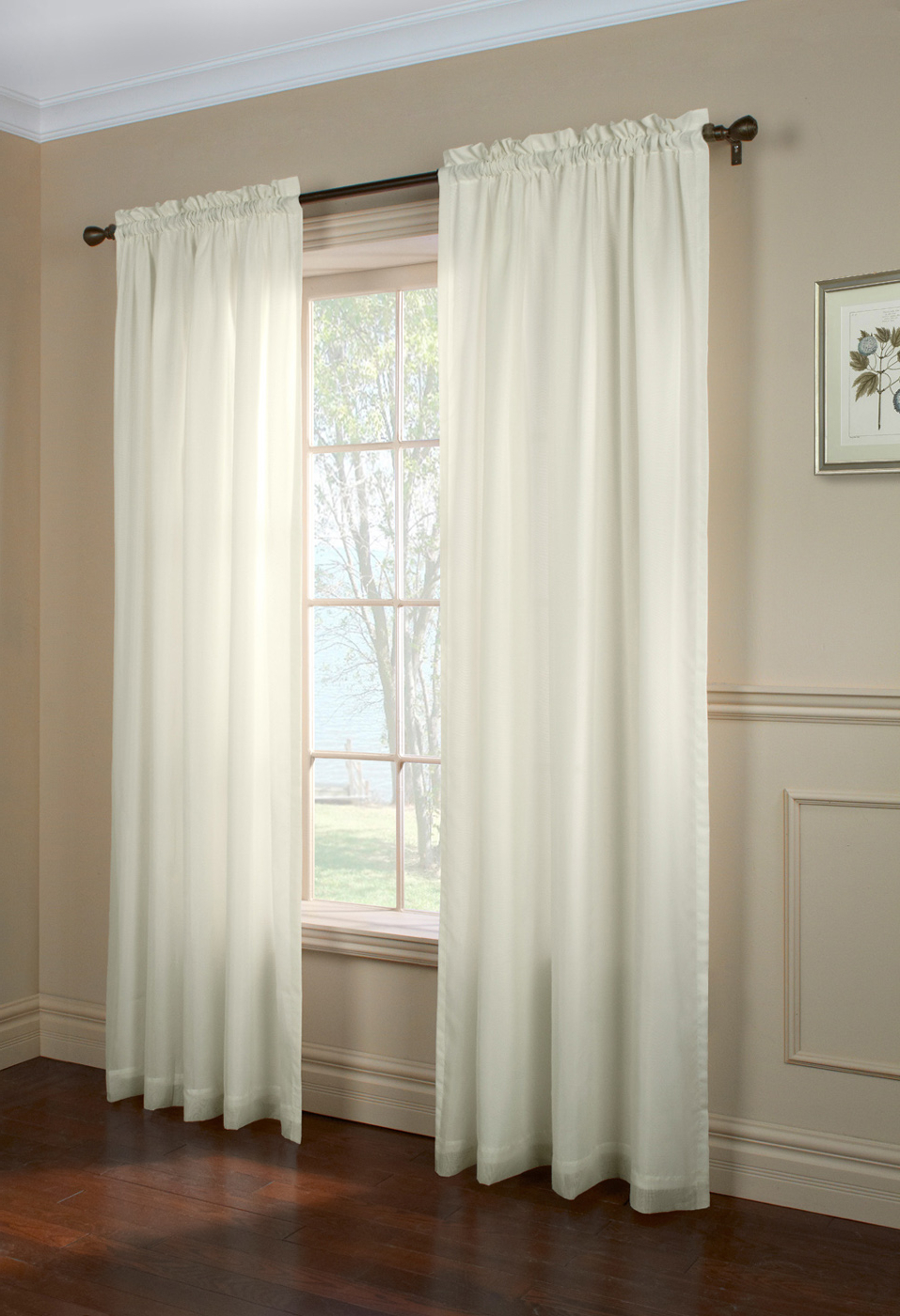 Most Recently Released Double Layer Sheer White Single Curtain Panels Throughout Sheer Window Curtains  Ï¿½Thecurtainshop (View 14 of 20)
