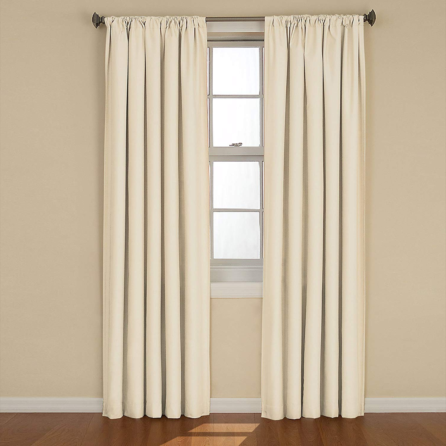 "Most Recently Released Eclipse Blackout Curtains For Bedroom – Kendall Insulated Darkening Single Panel Rod Pocket Window Treatment Living Room, 42"" X 84"", Ivory For Eclipse Kendall Blackout Window Curtain Panels (Gallery 16 of 20)"