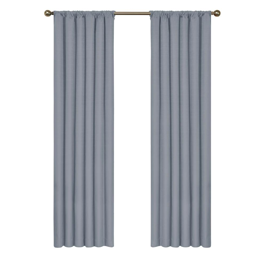 Most Recently Released Eclipse Kendall Blackout Window Curtain Panel In Slate – 42 In. W X 54 In (View 8 of 20)