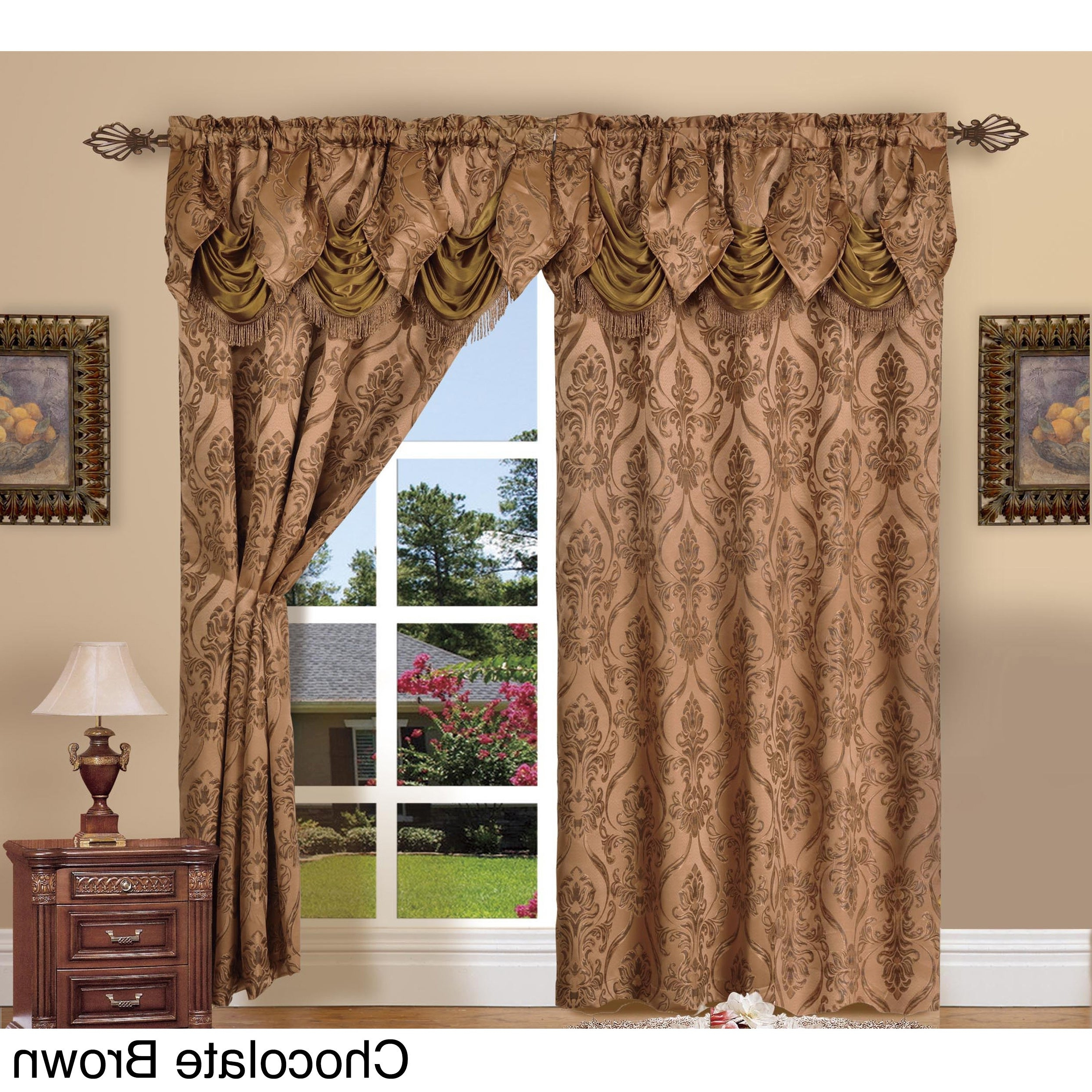 Most Recently Released Elegant Comfort Luxury Penelopie Jacquard 84 Inch Length Window Curtain Panel Pair With Regard To Elegant Comfort Luxury Penelopie Jacquard Window Curtain Panel Pairs (View 2 of 20)