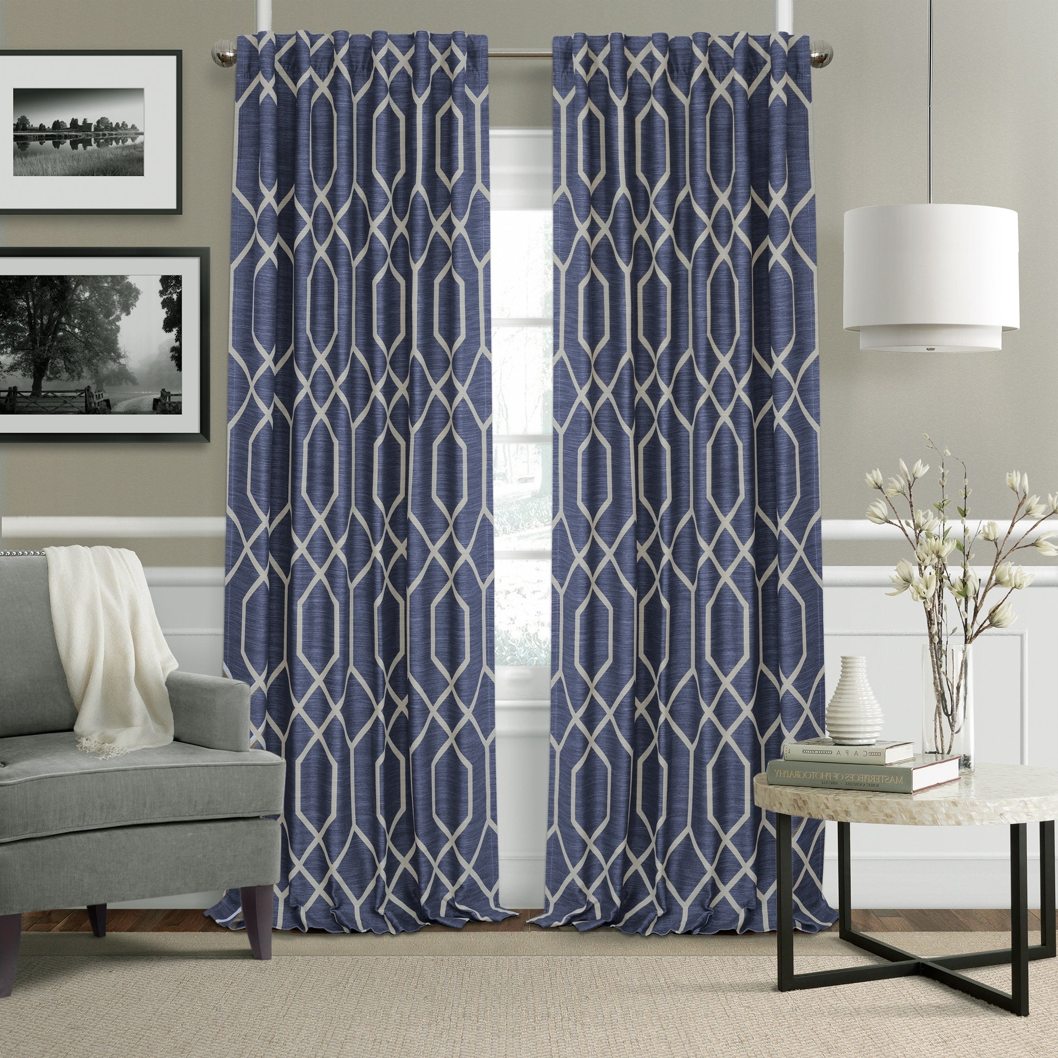 Most Recently Released Elrene Aurora Kids Room Darkening Layered Sheer Curtains Inside Details About Elrene Devin Geometric Room Darkening Curtains (Gallery 8 of 20)