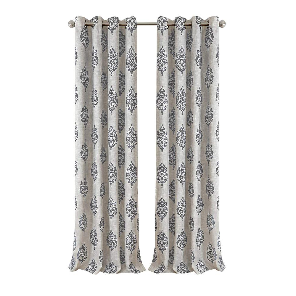 Most Recently Released Elrene Aurora Kids Room Darkening Layered Sheer Curtains Regarding Elrene Navara Medallion Room Darkening Window Curtain (Gallery 7 of 20)