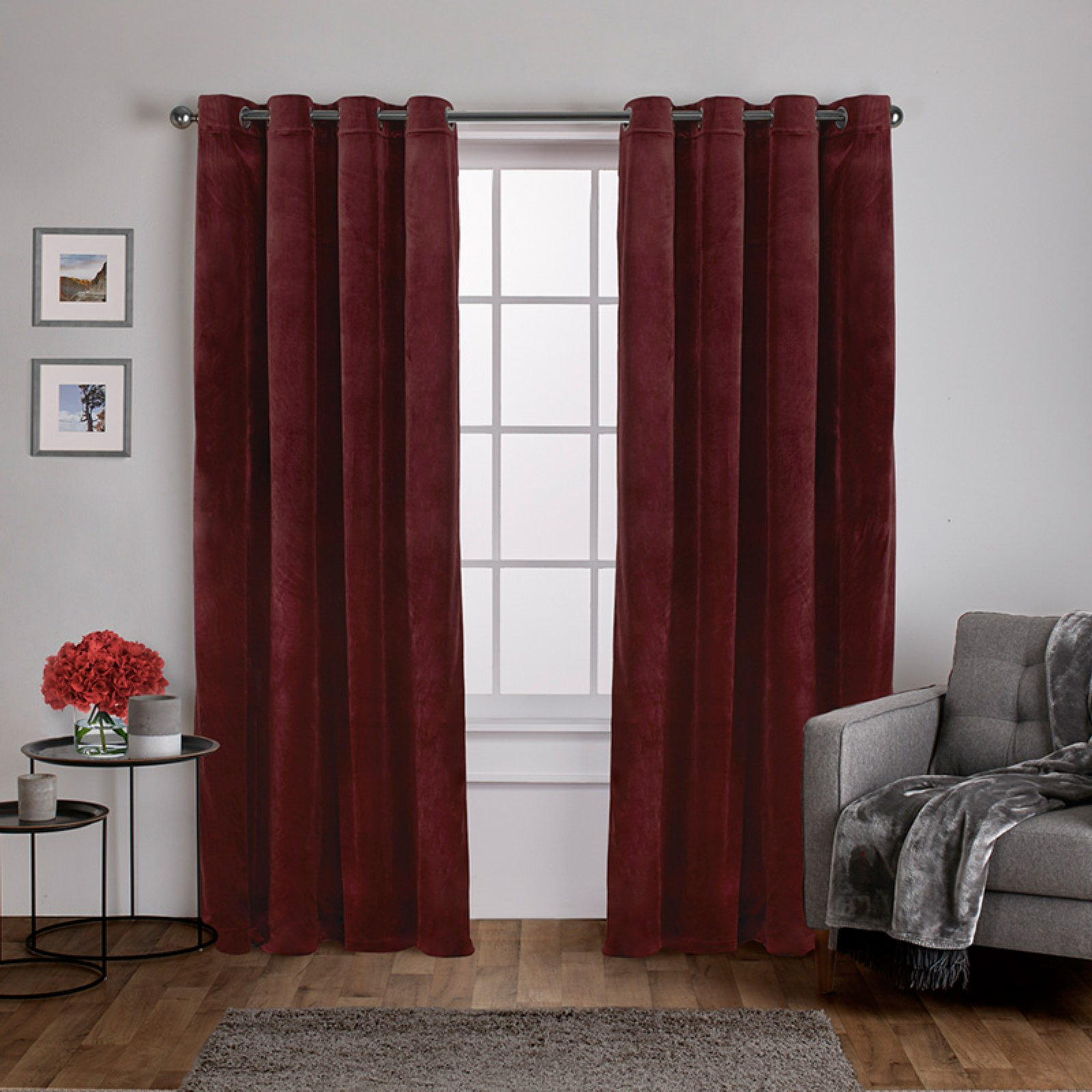 Most Recently Released Exclusive Home Velvet Heavyweight Grommet Top Curtain Panel With Velvet Heavyweight Grommet Top Curtain Panel Pairs (View 5 of 20)