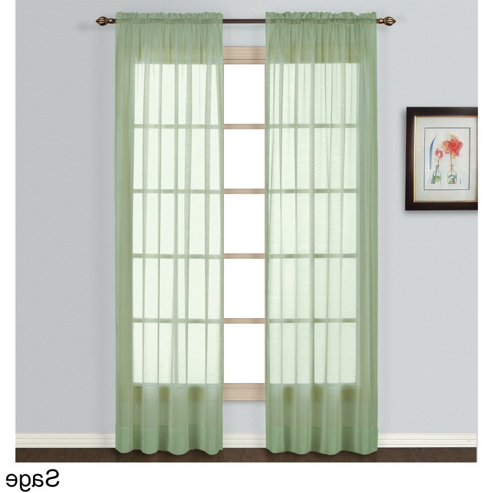 Most Recently Released Luxury Collection Batiste Semi Sheer Single Curtain Panel With Luxury Collection Summit Sheer Curtain Panel Pairs (Gallery 3 of 20)