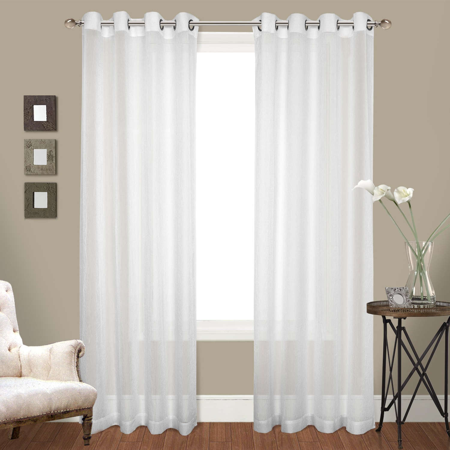 Most Recently Released Luxury Collection Monte Carlo Sheer Curtain Panel Pairs Pertaining To Luxury Collection Venetian Sheer Curtain Panel Pair (Gallery 5 of 20)