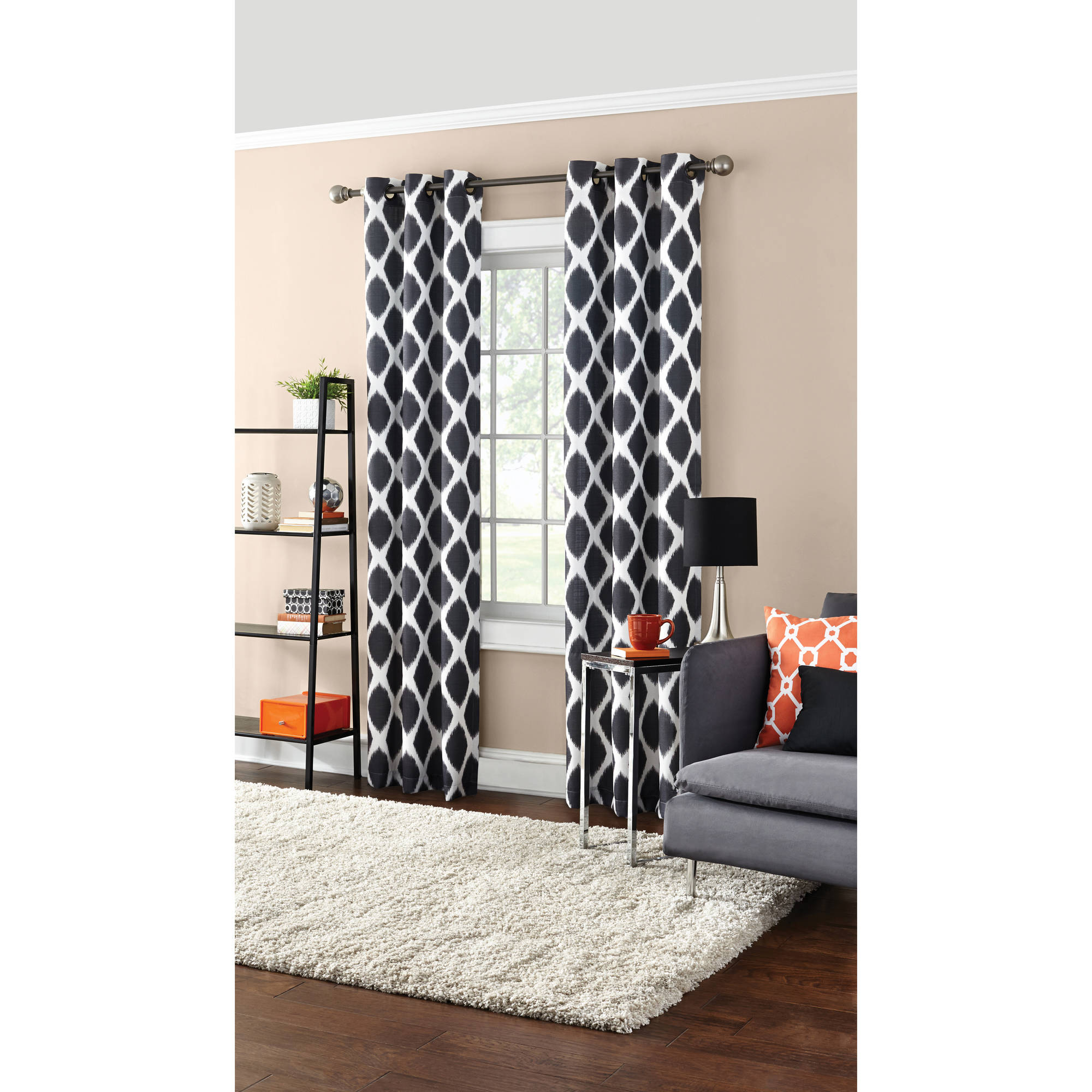 Most Recently Released Mainstays Textured Grommet Curtain Panel In Grommet Curtain Panels (Gallery 12 of 20)