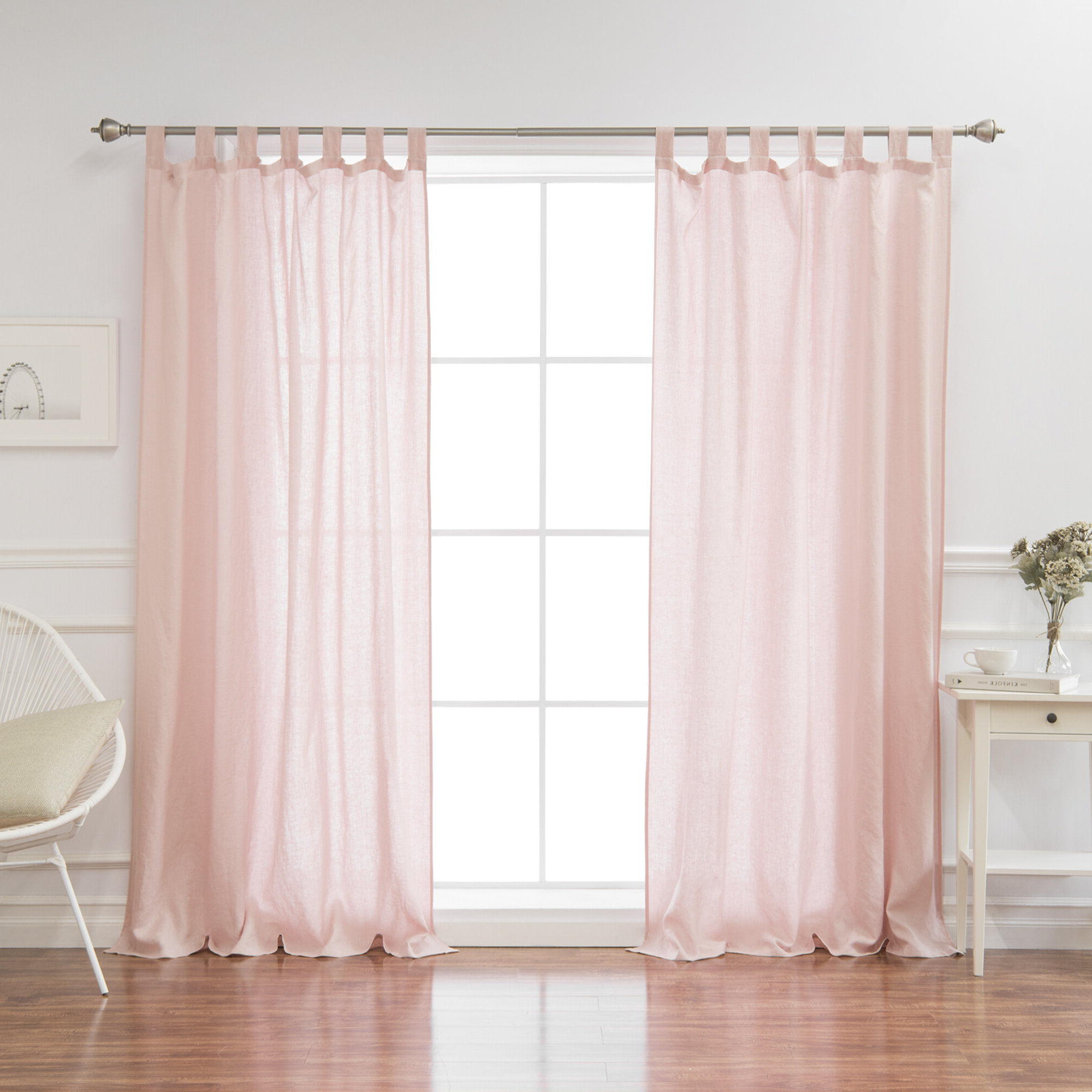 Most Recently Released Montezuma Flax Solid Semi Sheer Tab Top Single Curtain Panel Pertaining To Tab Top Sheer Single Curtain Panels (View 14 of 20)