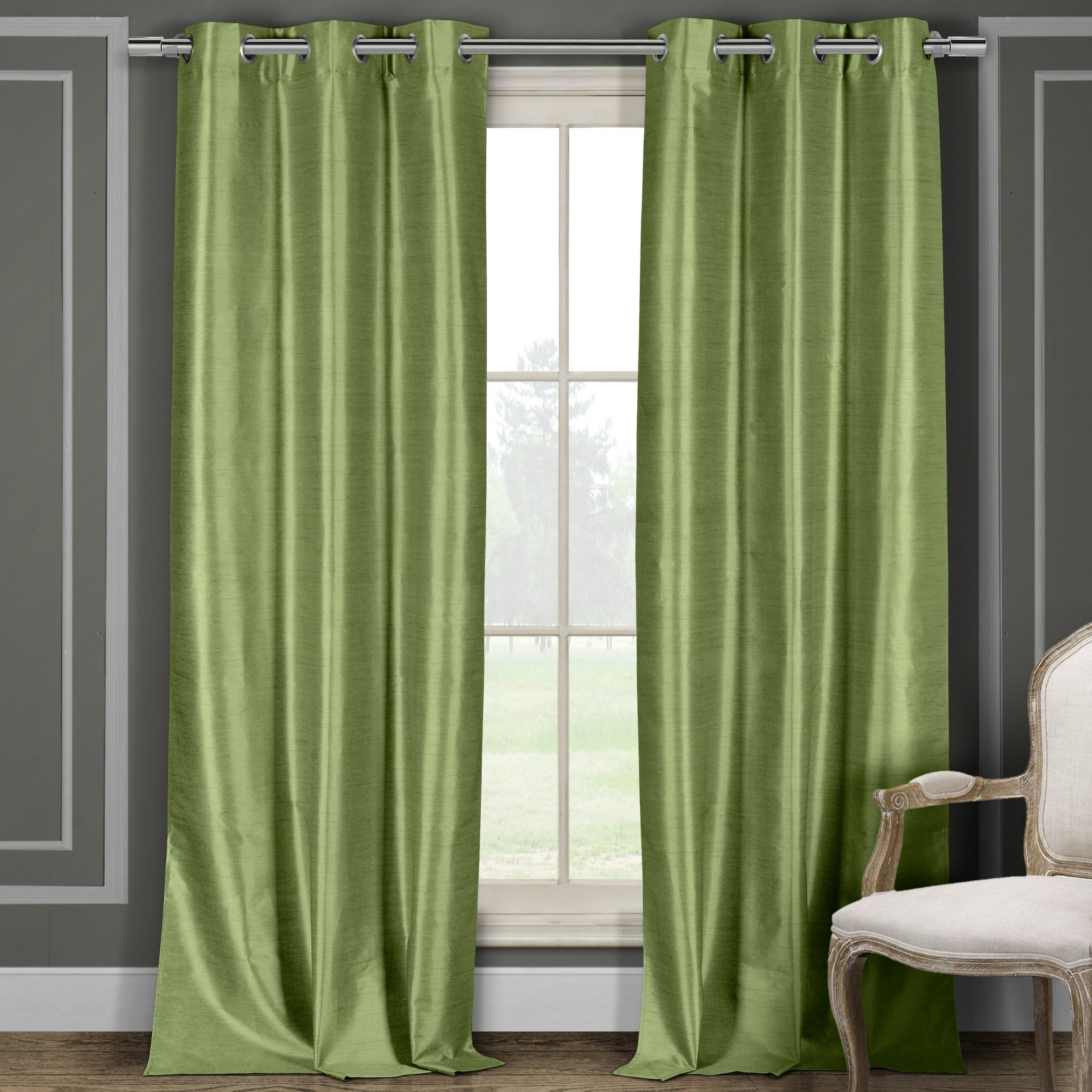 Most Recently Released Overseas Faux Silk Blackout Curtain Panel Pairs In Faux Silk Solid Blackout Grommet Curtain Panels (View 10 of 20)