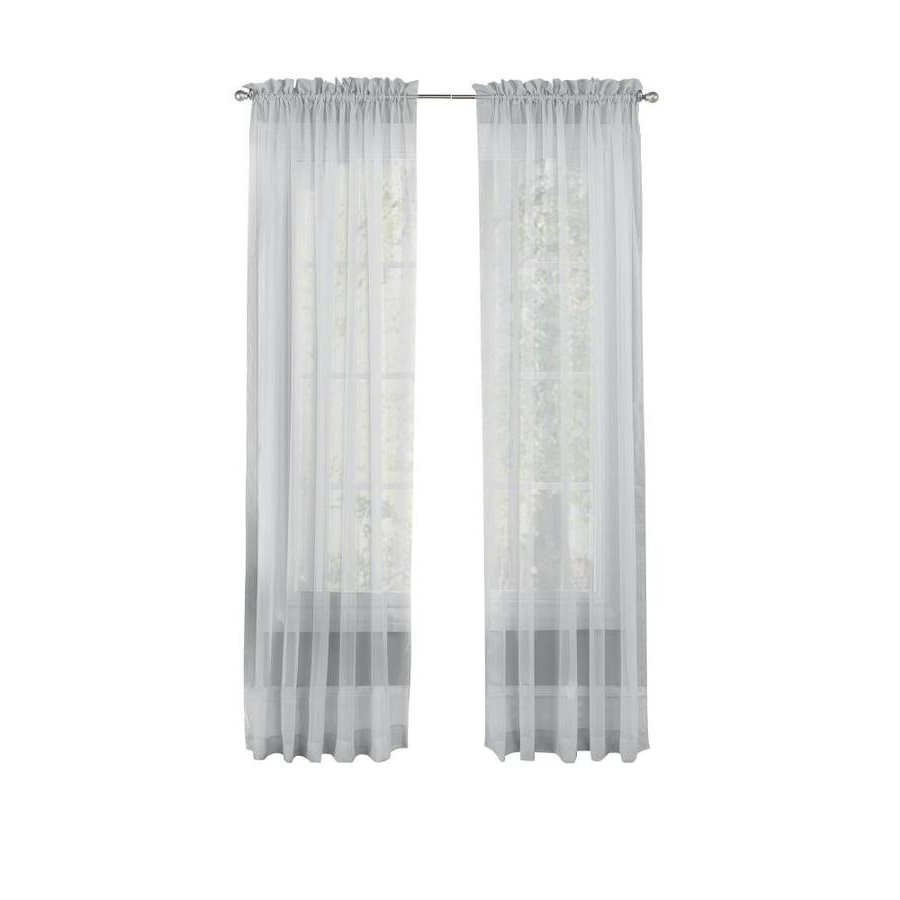 Most Recently Released Pairs To Go Victoria Voile 84 In Grey Polyester Sheer Pertaining To Pairs To Go Victoria Voile Curtain Panel Pairs (Gallery 6 of 20)
