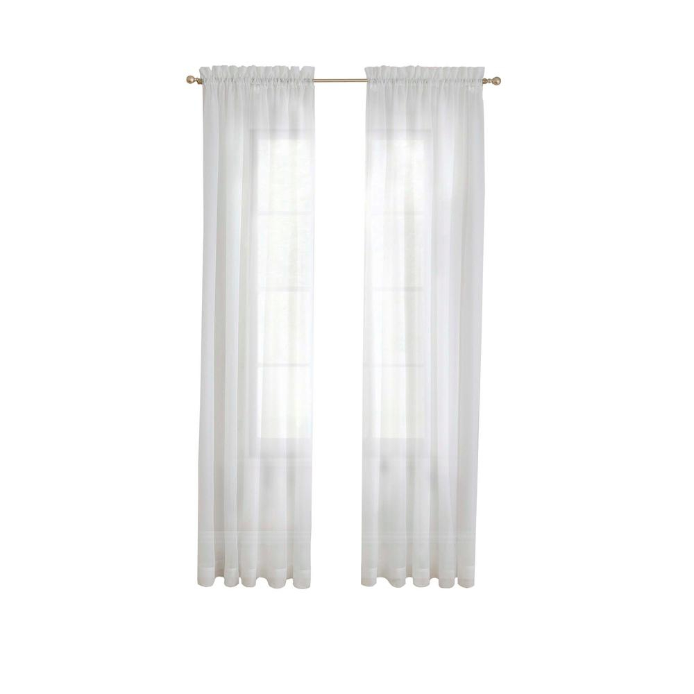 Most Recently Released Pairs To Go Victoria Voile Curtain Panel Pairs Within Pairs To Go Victoria Voile Window Curtain Panel Pair In Grey – 118 In. W X 95 In. L (Gallery 5 of 20)
