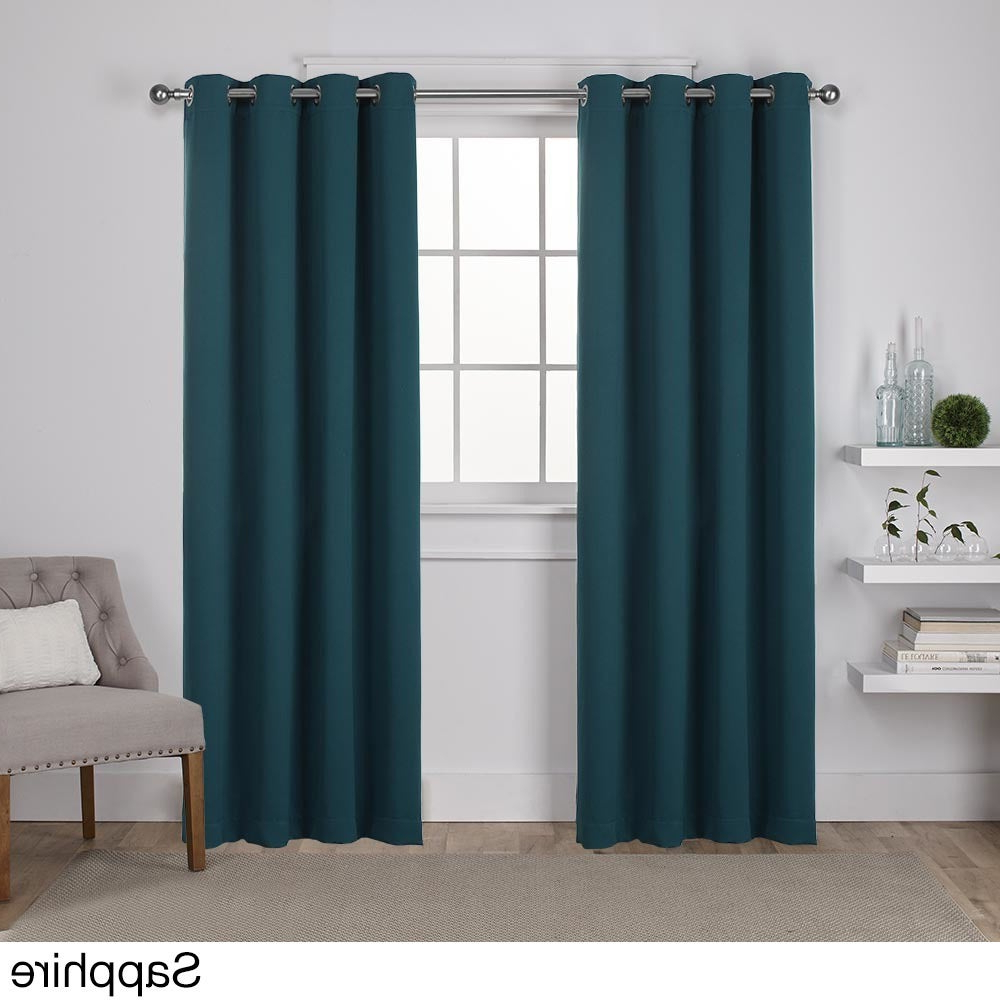 Most Recently Released Sateen Twill Weave Insulated Blackout Window Curtain Panel Pairs Throughout Shop Ati Home Sateen Twill Woven Blackout Window Curtain (View 14 of 20)