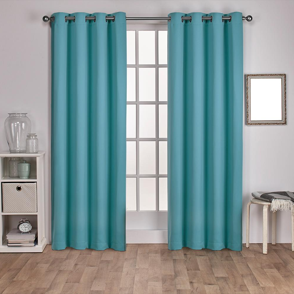Most Recently Released Sateen Twill Weave Insulated Blackout Window Curtain Panel Pairs With Sateen 52 In. W X 108 In (View 17 of 20)