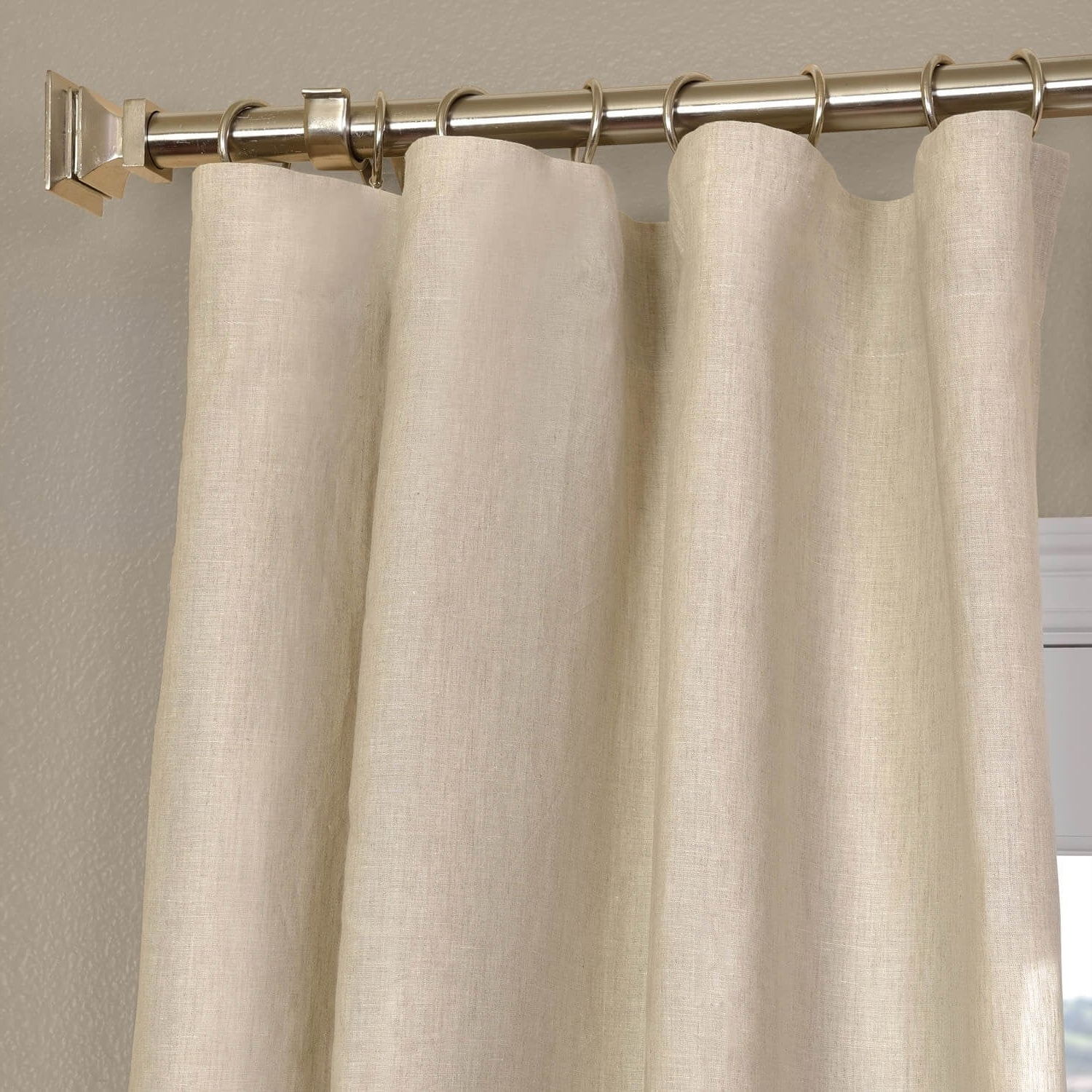 Most Recently Released Signature French Linen Curtain Panels Intended For Exclusive Fabrics Signature French Linen Curtain Panel (View 7 of 20)