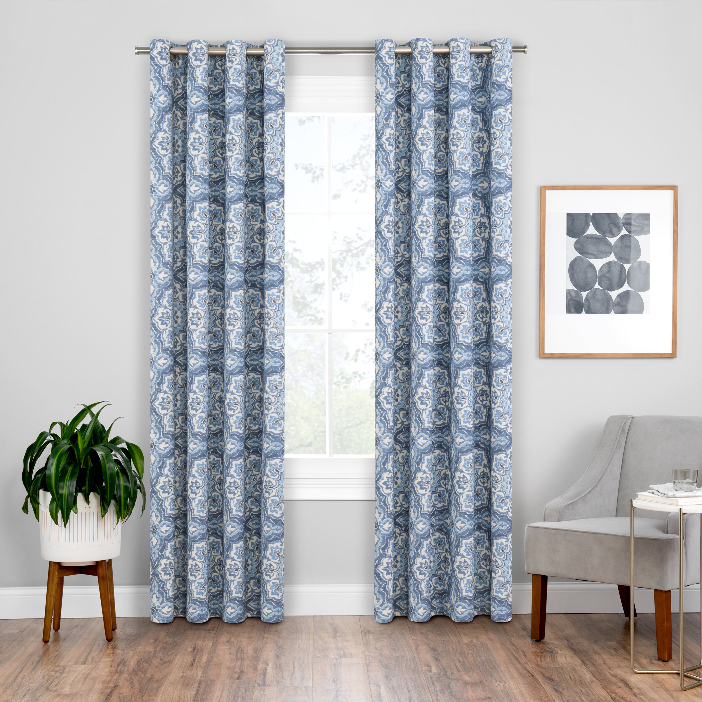 Most Recently Released Soleil Floral Blackout Grommet Curtain Panels Regarding Blackout Grommet Curtain Panels (Gallery 19 of 20)