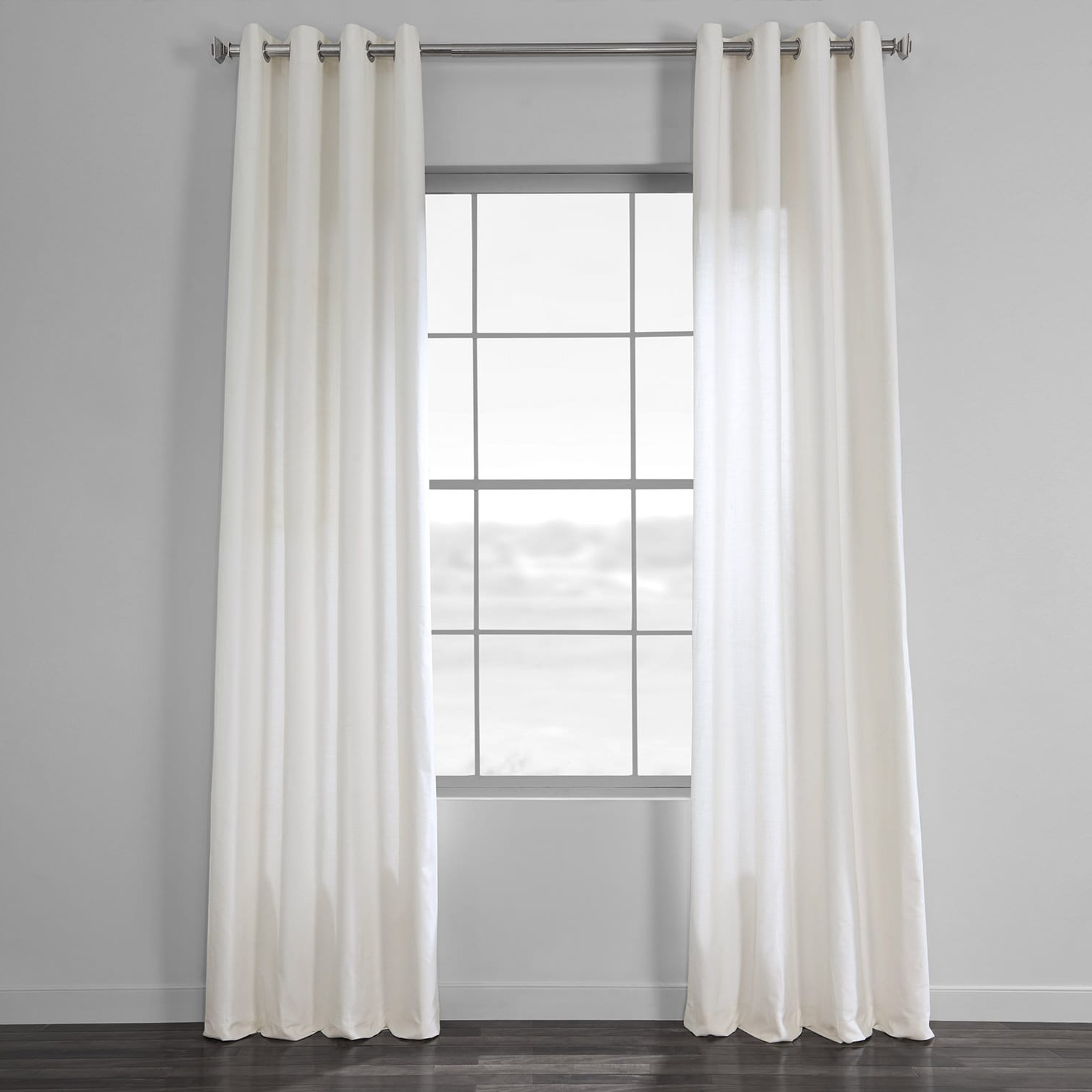 Most Recently Released Solid Country Cotton Linen Weave Curtain Panels Regarding Pacific Pearl Country Cotton Linen Weave Grommet Curtain (View 11 of 20)