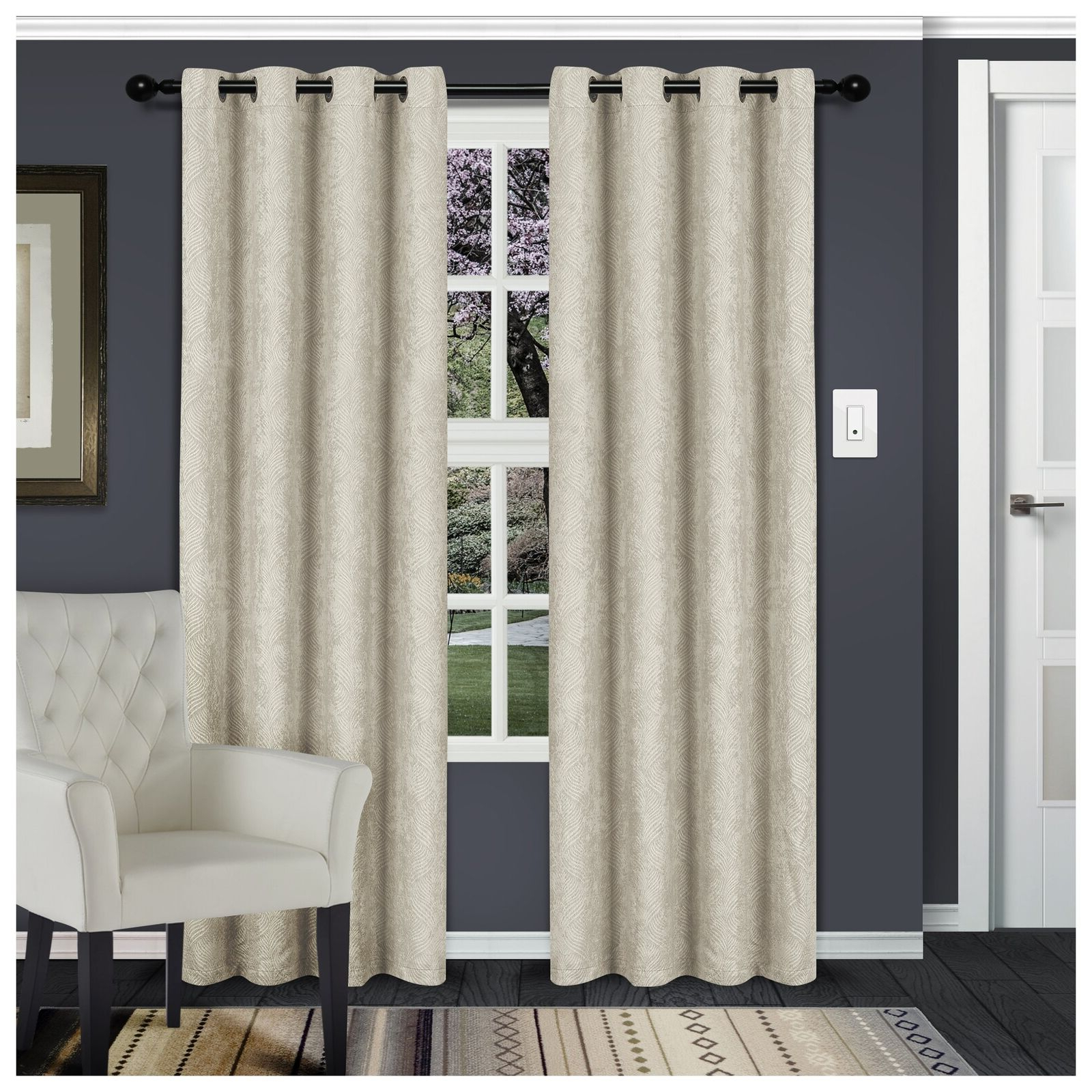 Most Recently Released Tuscan Thermal Backed Blackout Curtain Panel Pairs Regarding Superior Waverly Blackout Curtain Set Of 2 Thermal Insulated Panel Pair With In (View 6 of 20)