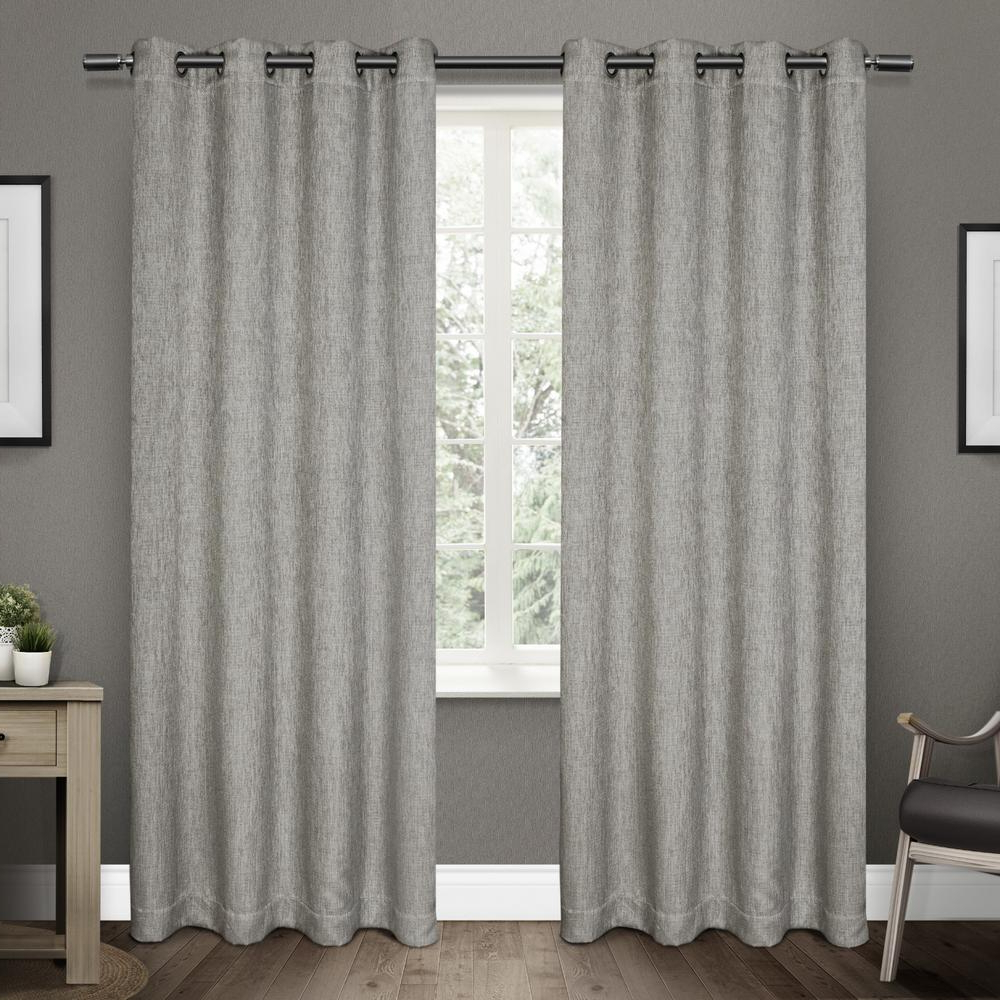 Most Recently Released Twig Insulated Blackout Curtain Panel Pairs With Grommet Top Within Vesta 52 In. W X 84 In (View 14 of 20)