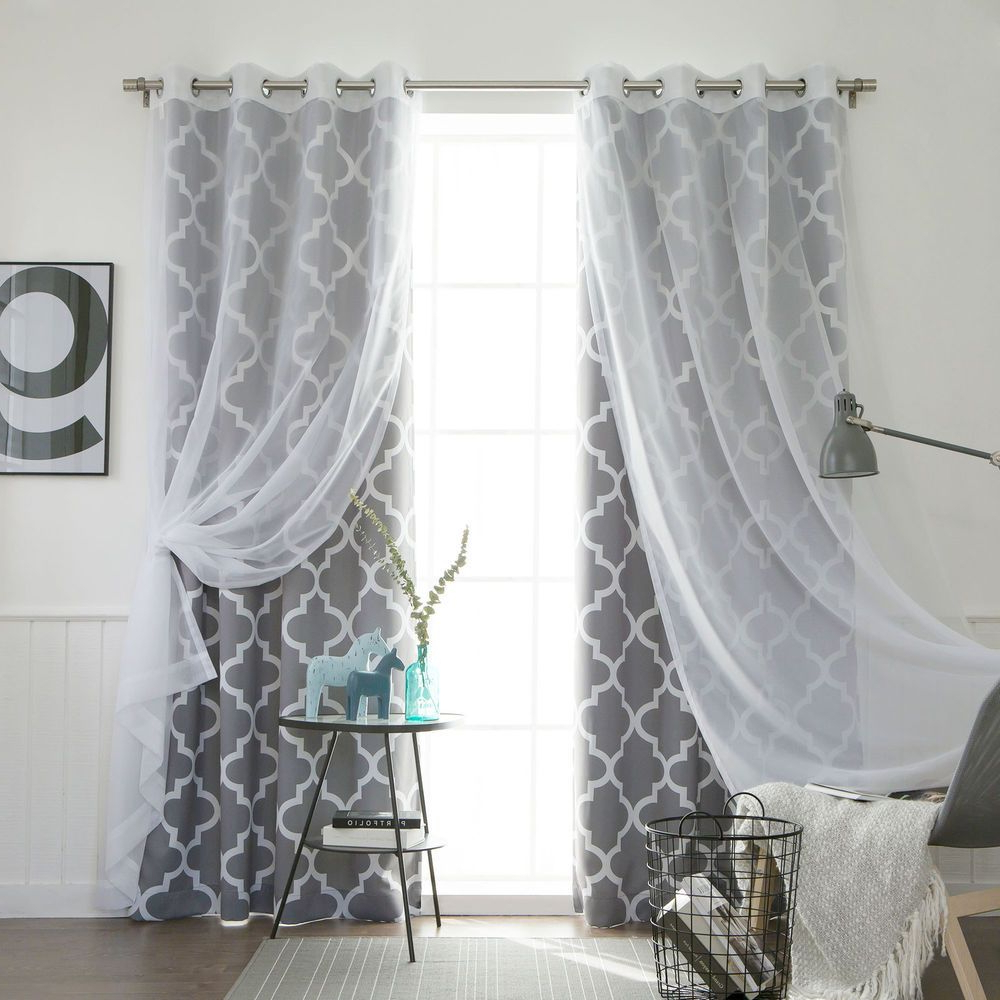 Most Up To Date Aurora Home Mix & Match Curtains Moroccan Room Darkening And With Regard To Elrene Aurora Kids Room Darkening Layered Sheer Curtains (Gallery 18 of 20)