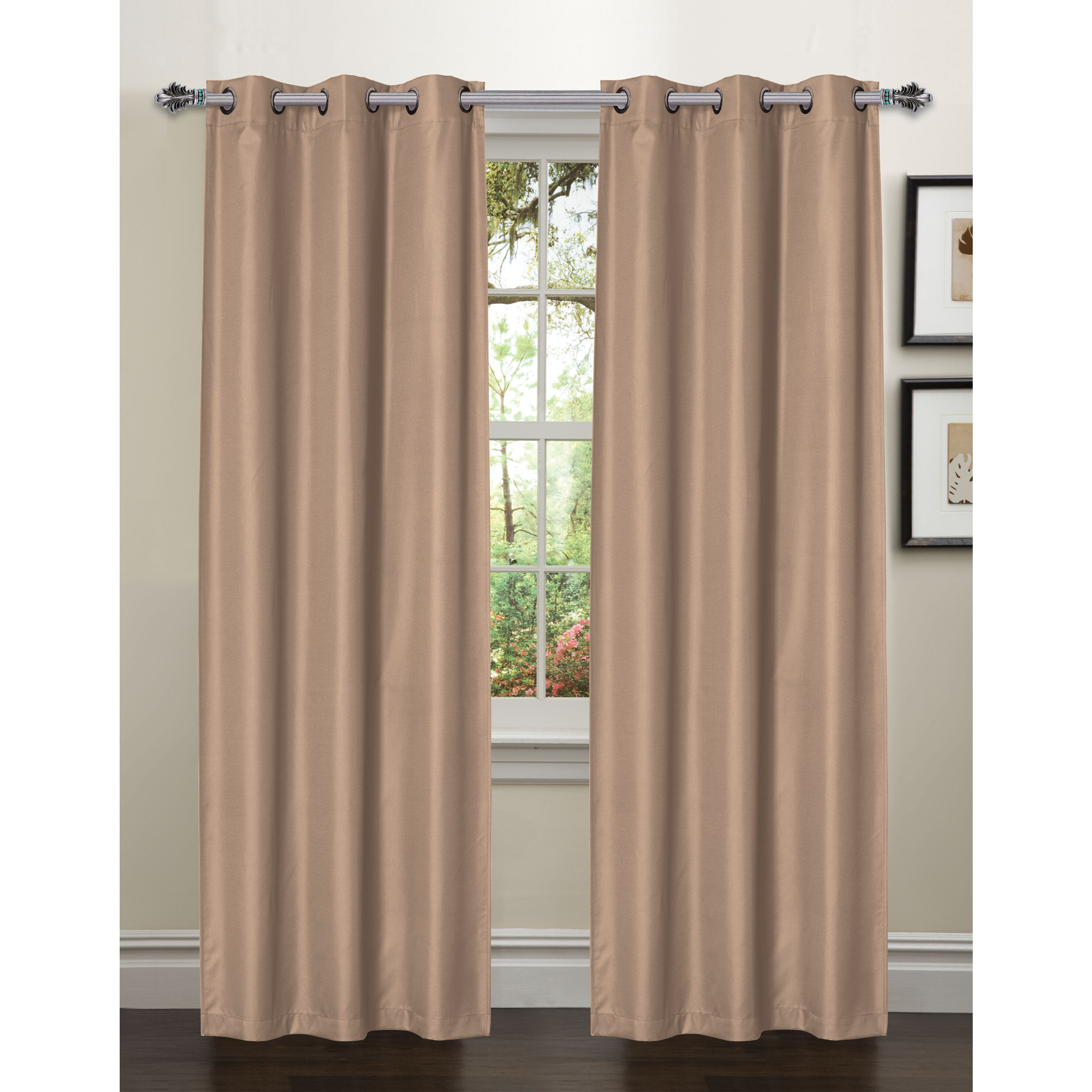 Most Up To Date Bella Luna Galaxy Solid Room Darkening Thermal Grommet Throughout Easton Thermal Woven Blackout Grommet Top Curtain Panel Pairs (View 17 of 20)
