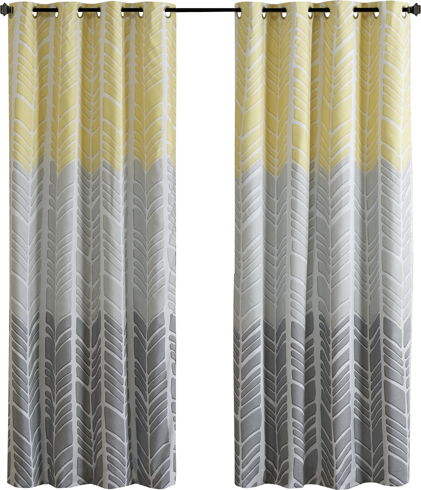 Most Up To Date Chevron Blackout Grommet Curtain Panels In Stansel Chevron Max Blackout Grommet Single Curtain Panel (Gallery 9 of 20)