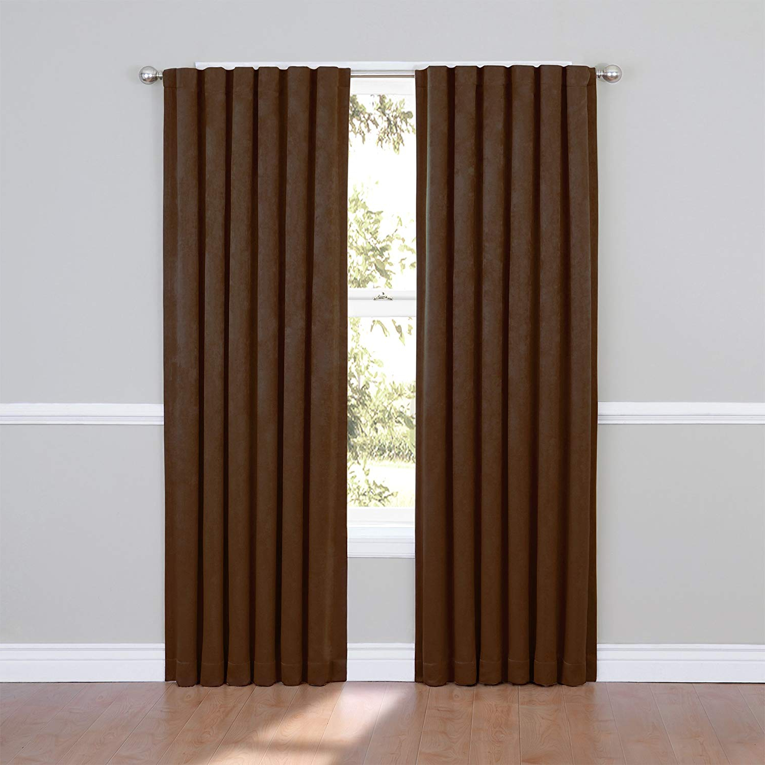 Most Up To Date Eclipse Ella Blackout Window Curtain Panel, 84 Inch, Chocolate Throughout Ella Window Curtain Panels (Gallery 19 of 20)