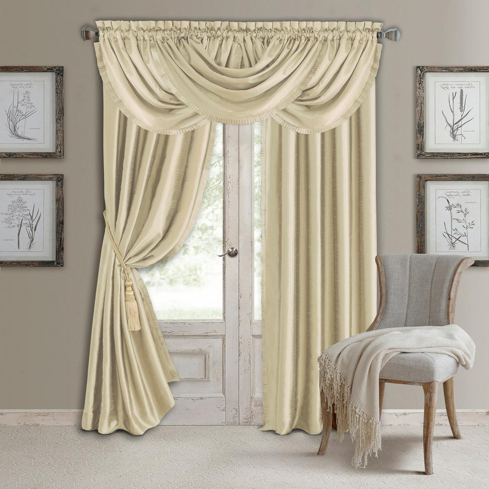 Most Up To Date Elrene Versailles Faux Silk Blackout Window Curtain For All Seasons Blackout Window Curtains (Gallery 3 of 20)