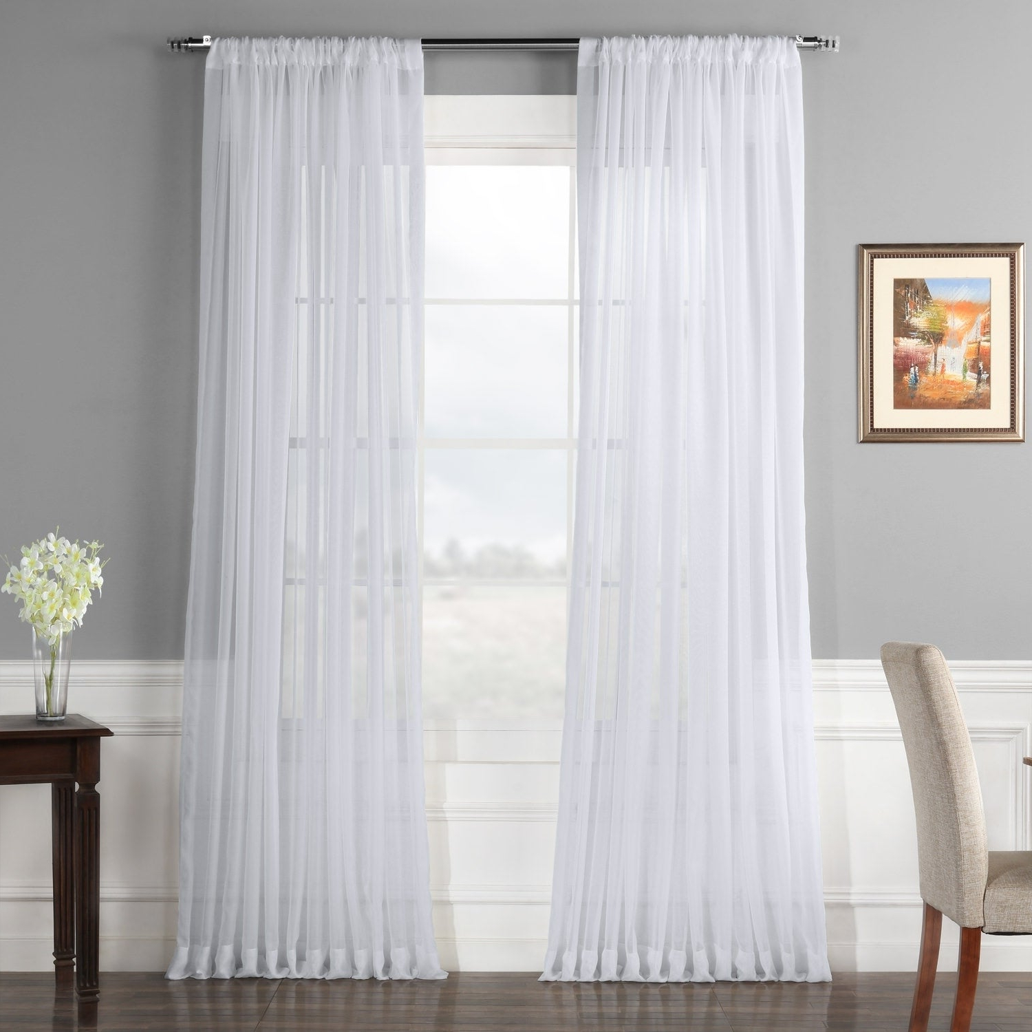 Featured Photo of Extra Wide White Voile Sheer Curtain Panels