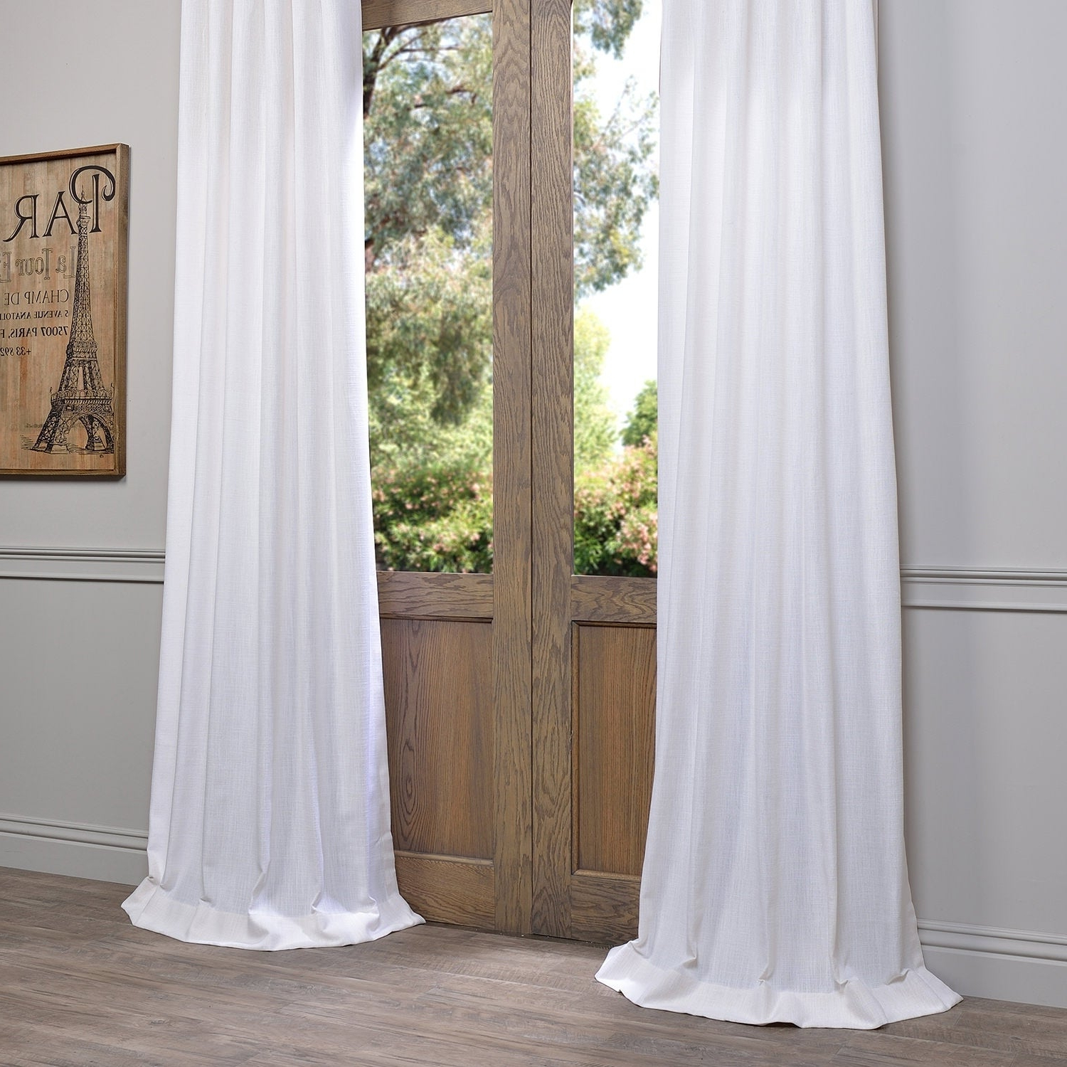 Most Up To Date Heavy Faux Linen Single Curtain Panels With Regard To Heavy Faux Linen Single Curtain Panel (View 8 of 20)