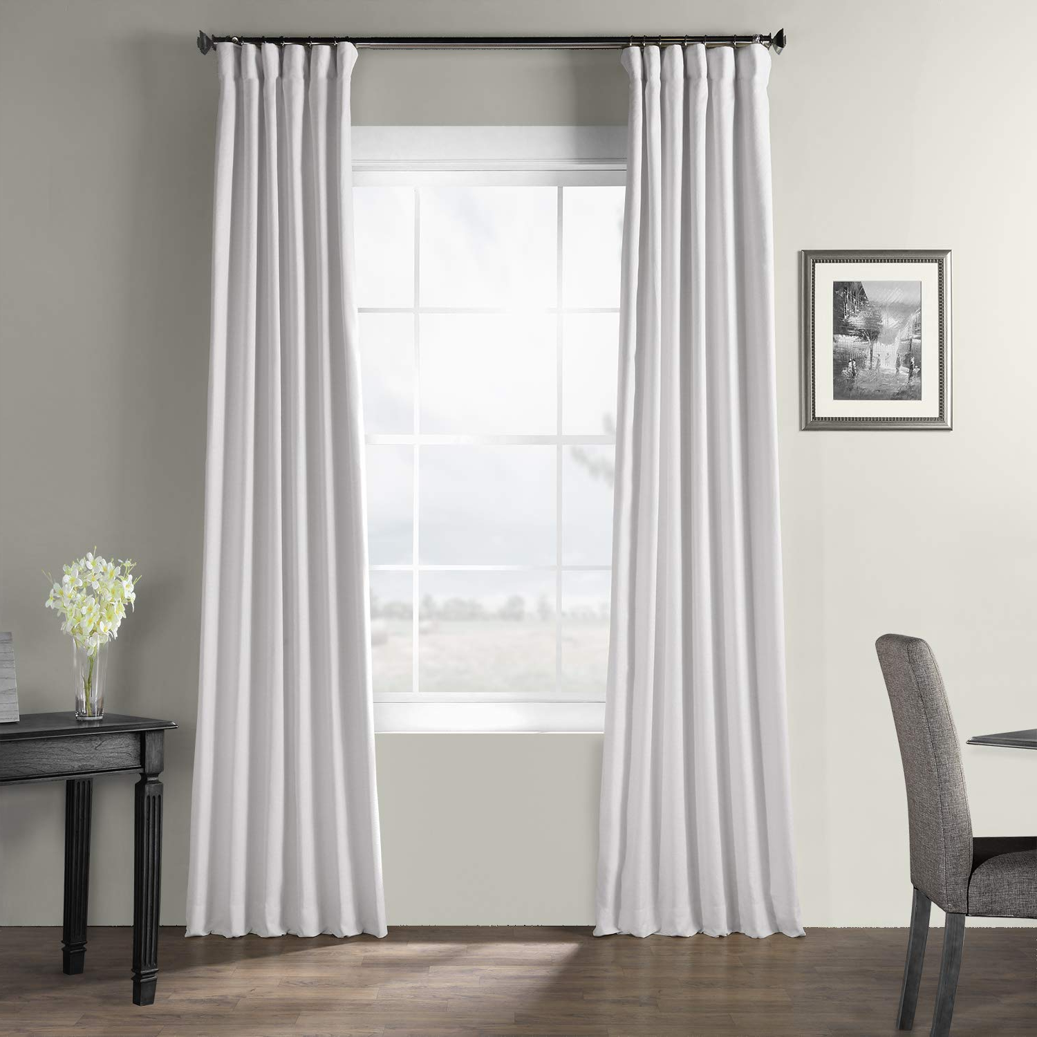 Most Up To Date Hpd Half Price Drapes Bwlk 1851 120 Bark Weave Solid Cotton Curtain, 50 X  120, Ultra White In Bark Weave Solid Cotton Curtains (Gallery 7 of 20)