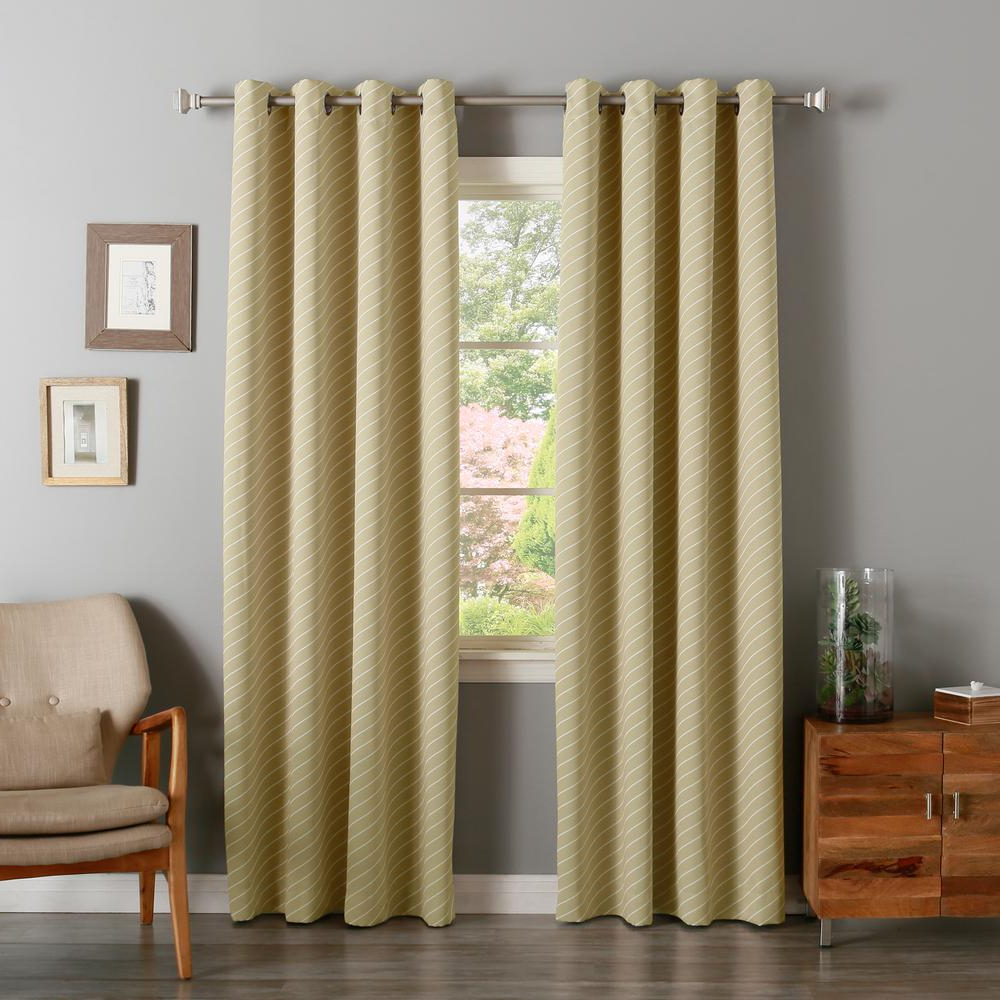 Most Up To Date Julia Striped Room Darkening Window Curtain Panel Pairs Intended For Best Home Fashion 63 In. L Room Darkening Diagonal Stripe Curtain Panel In Beige (2 Pack) (Gallery 15 of 20)
