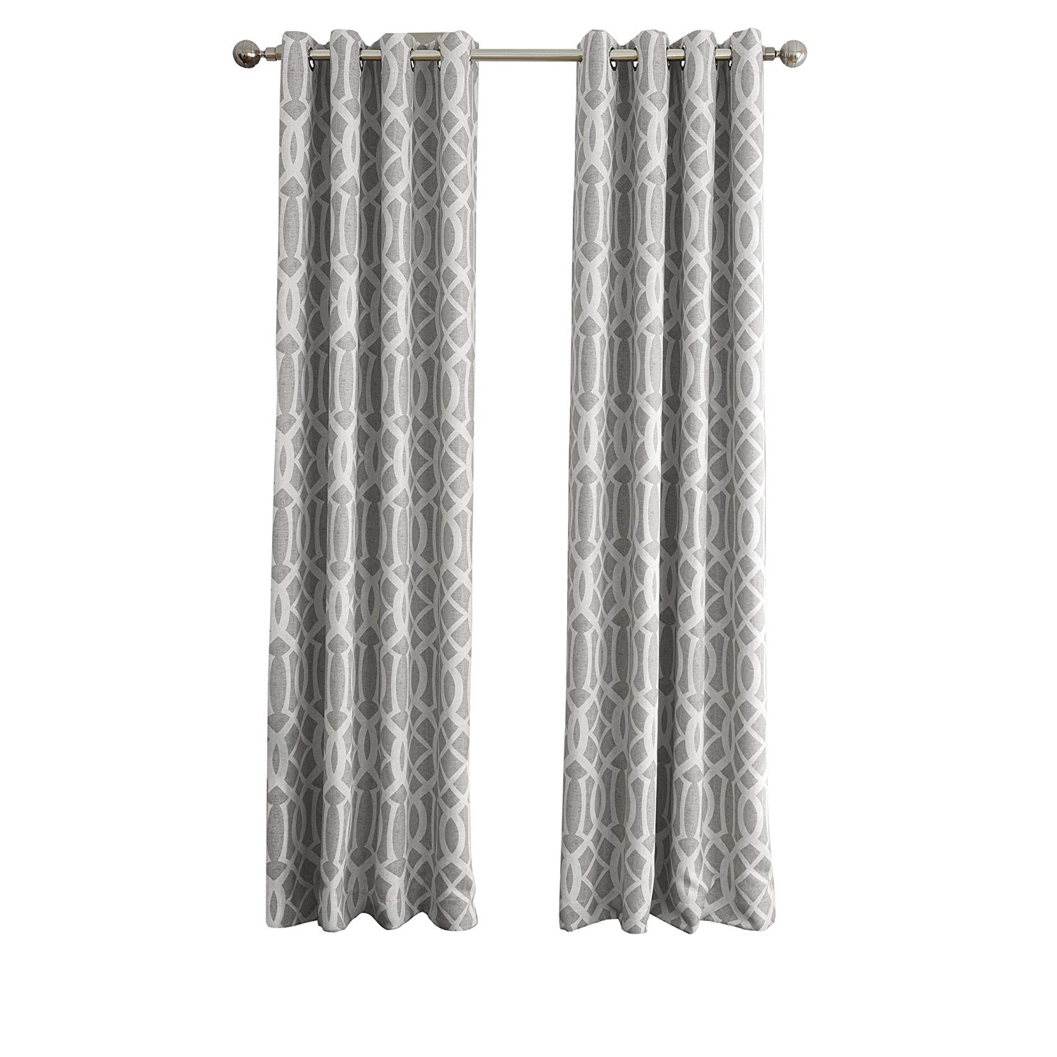 "Most Up To Date Kaiden Geometric Room Darkening Window Curtains Pertaining To Elrene Home Fashions Energy Efficient Room Darkening Rod Pocket Window Panel Harper Gray 52"" X 84"" (1 Panel) 1 (Gallery 15 of 20)"