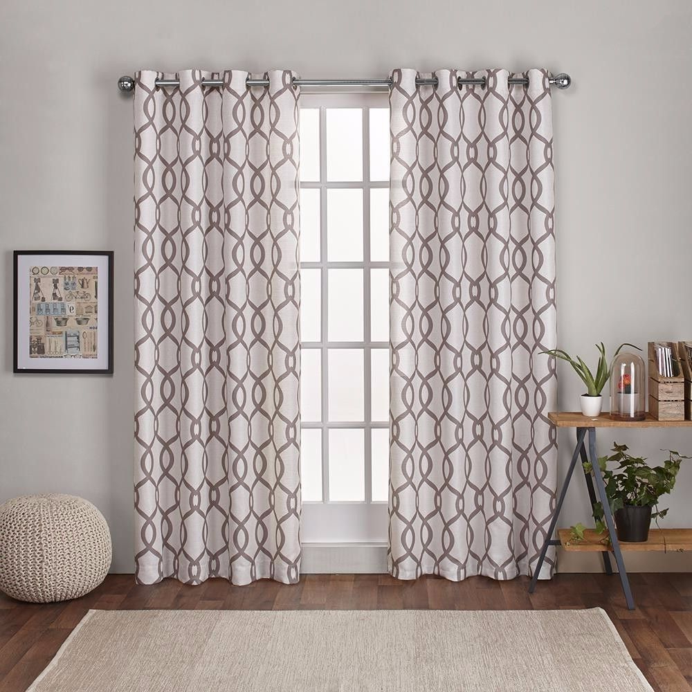 Most Up To Date Kochi Linen Blend Grommet Top Window Curtain Panel Pair Within Kochi Linen Blend Window Grommet Top Curtain Panel Pairs (View 8 of 20)