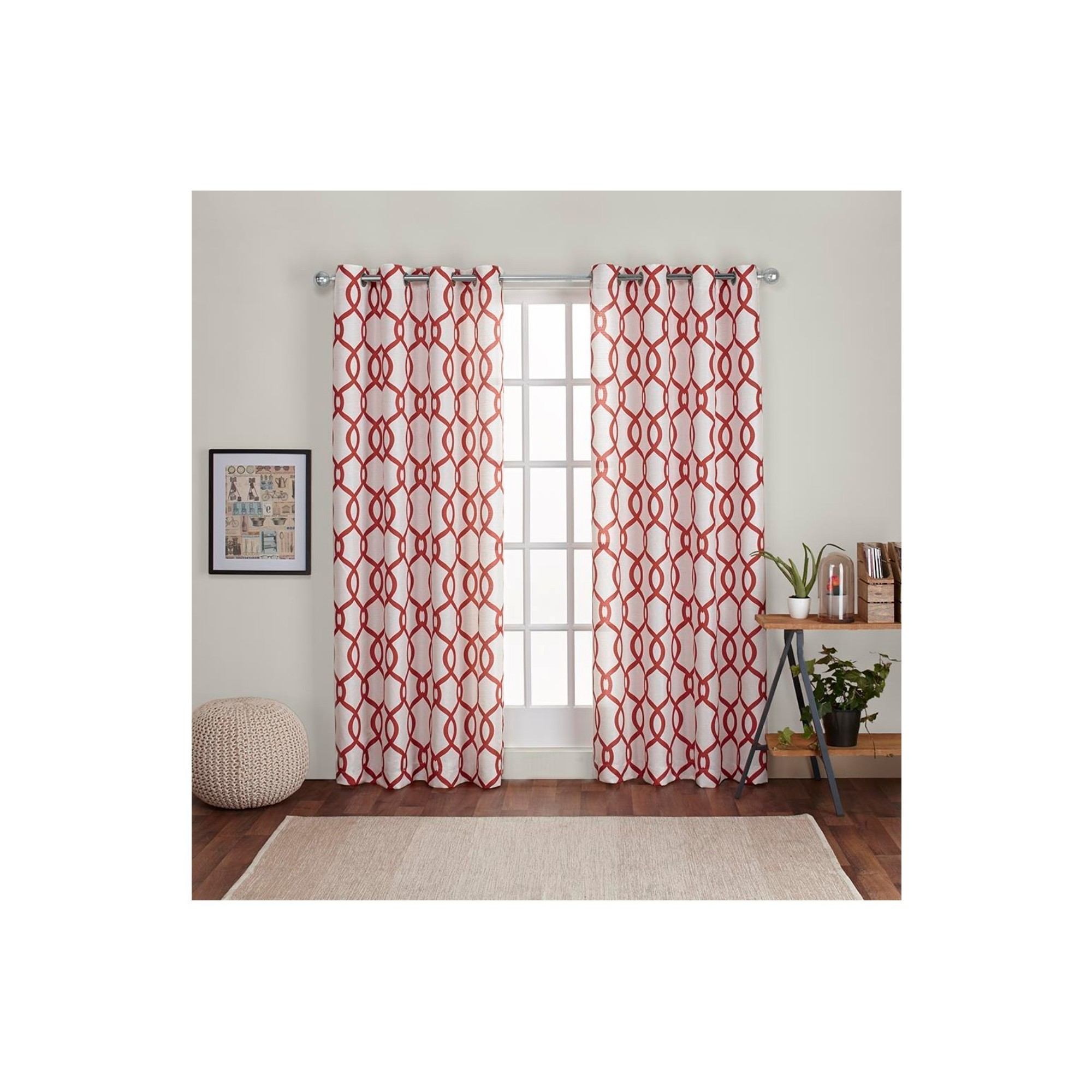 Most Up To Date Kochi Linen Blend Window Grommet Top Curtain Panel Pairs Throughout Kochi Linen Blend Grommet Top Window Curtain Panel Pair (View 12 of 20)