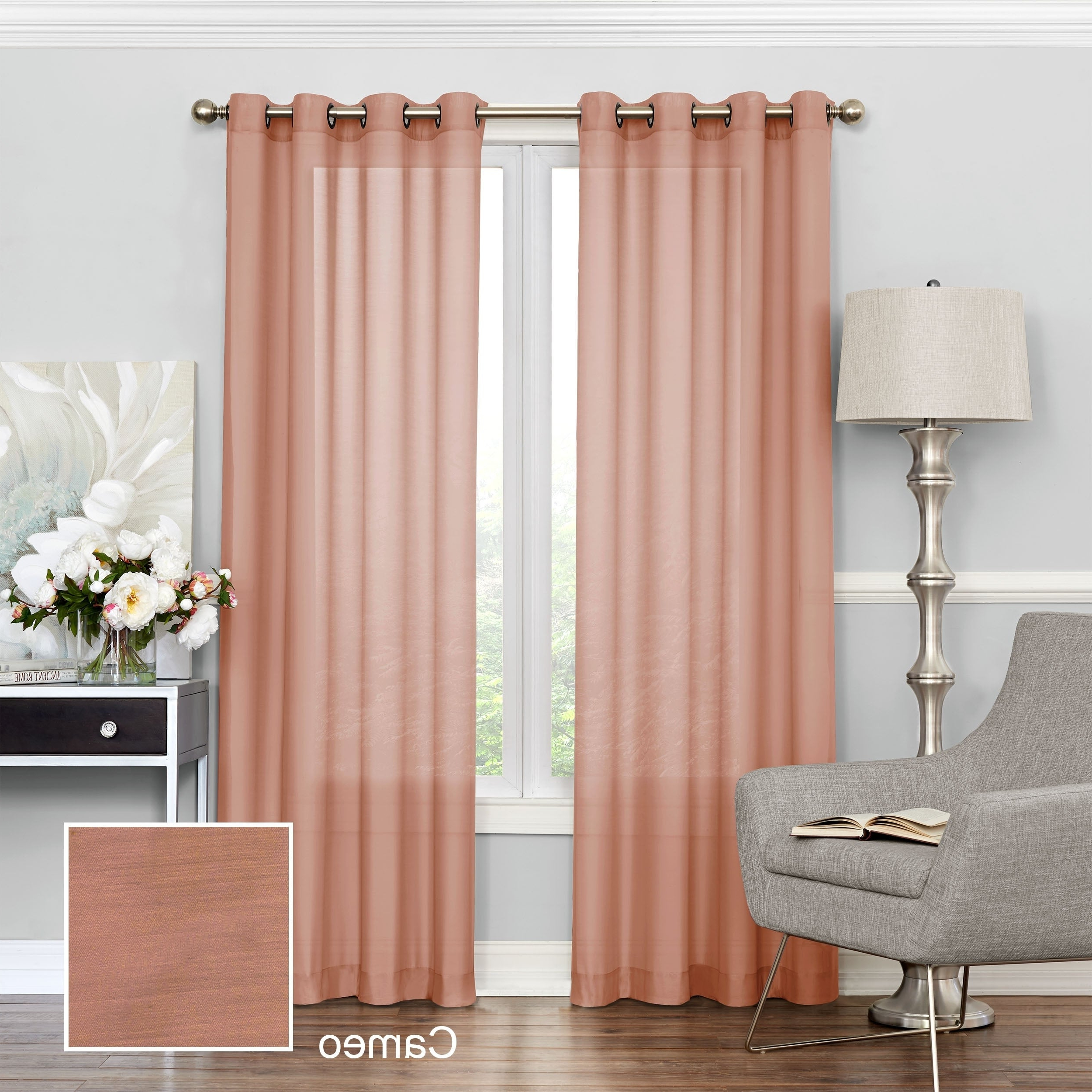 Most Up To Date Luxury Collection Cranston Sheer Curtain Panel Pairs Pertaining To Eclipse Liberty Light Filtering Sheer Curtain (Gallery 8 of 20)