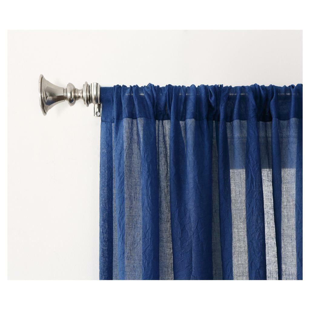 Most Up To Date No. 918 Ladonna Blue Semi Sheer Rod Pocket Curtain Panel Throughout Ladonna Rod Pocket Solid Semi Sheer Window Curtain Panels (Gallery 18 of 20)