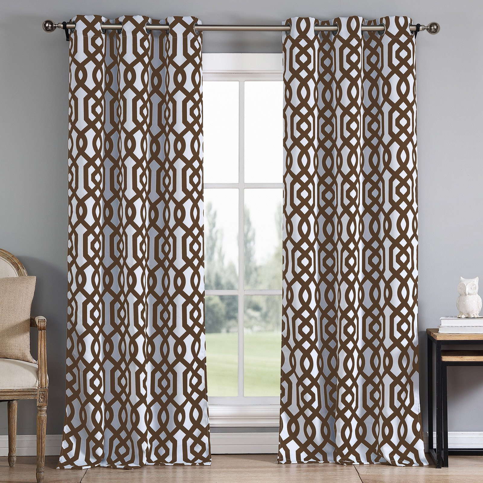 Most Up To Date Primebeau Geometric Pattern Blackout Curtain Pairs Within Duck River Ashmont Printed Blackout Grommet Pair Curtain (View 9 of 20)