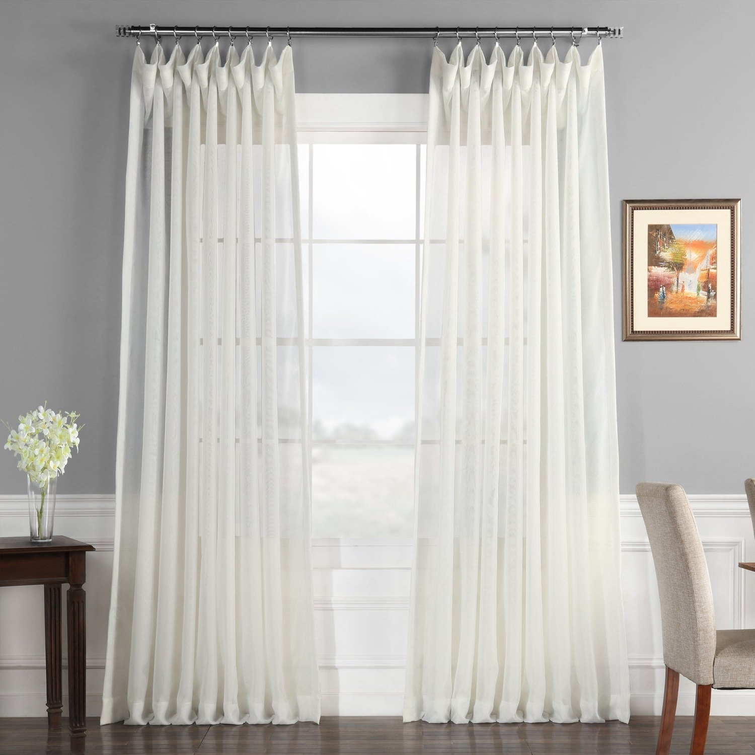 Featured Photo of Signature Extrawide Double Layer Sheer Curtain Panels