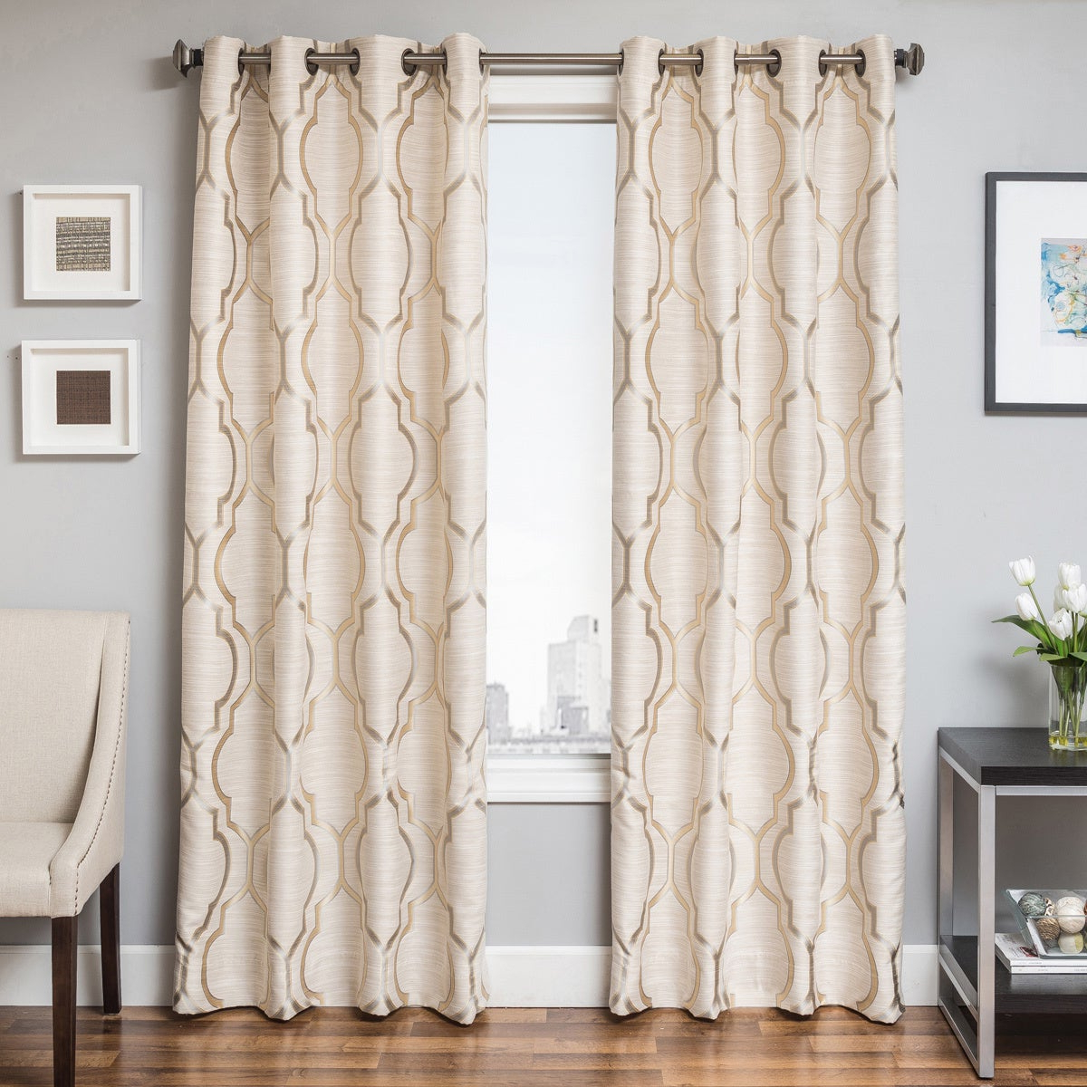 Most Up To Date Softline Trenton Grommet Top Curtain Panels With Softline Trenton Grommet Top Curtain Panel (View 4 of 20)