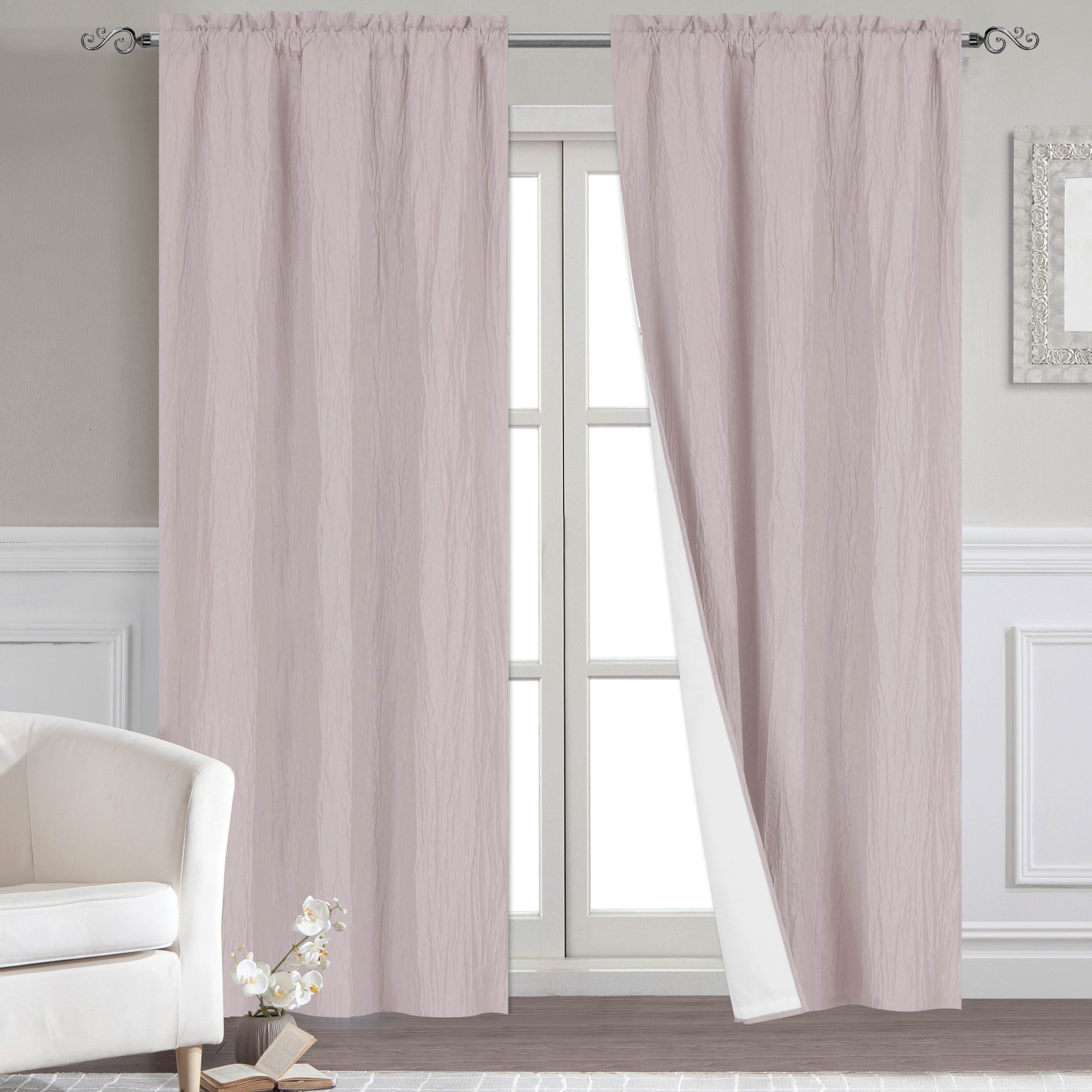 Most Up To Date Thermal Rod Pocket Blackout Curtain Panel Pairs Throughout Dainty Home Venetian Blackout Window Curtain Panel Pair With Thermal Lining (View 7 of 20)