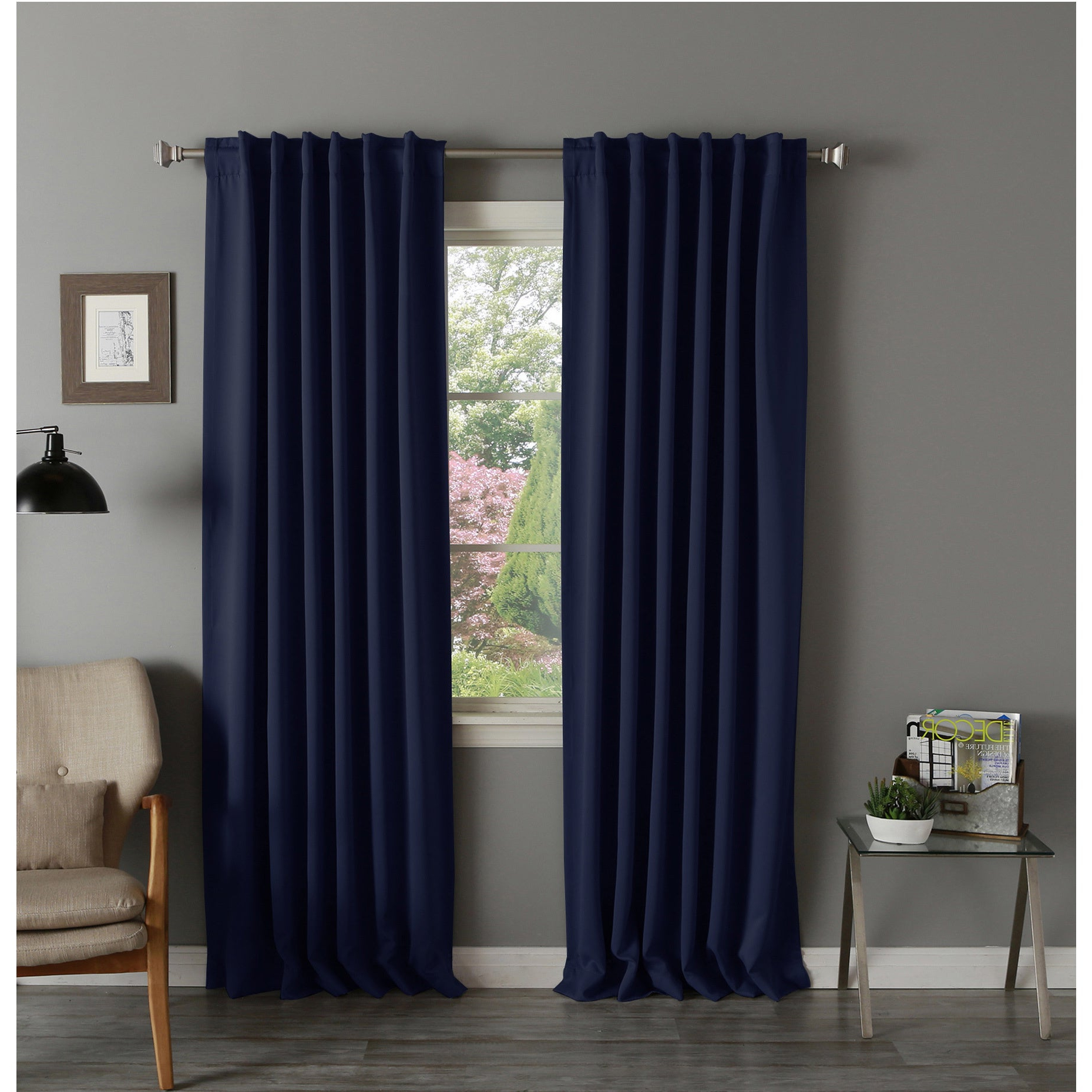 Most Up To Date Thermal Rod Pocket Blackout Curtain Panel Pairs With Aurora Home Thermal Rod Pocket 96 Inch Blackout Curtain Panel Pair – 52 X  (View 8 of 20)