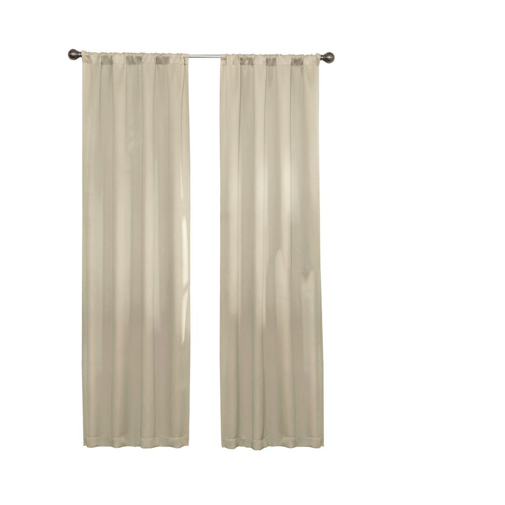 Most Up To Date Thermaweave Blackout Curtains In Eclipse Darrell Thermaweave Blackout Window Curtain Panel In Natural – 37 In. W X 84 In (View 8 of 20)