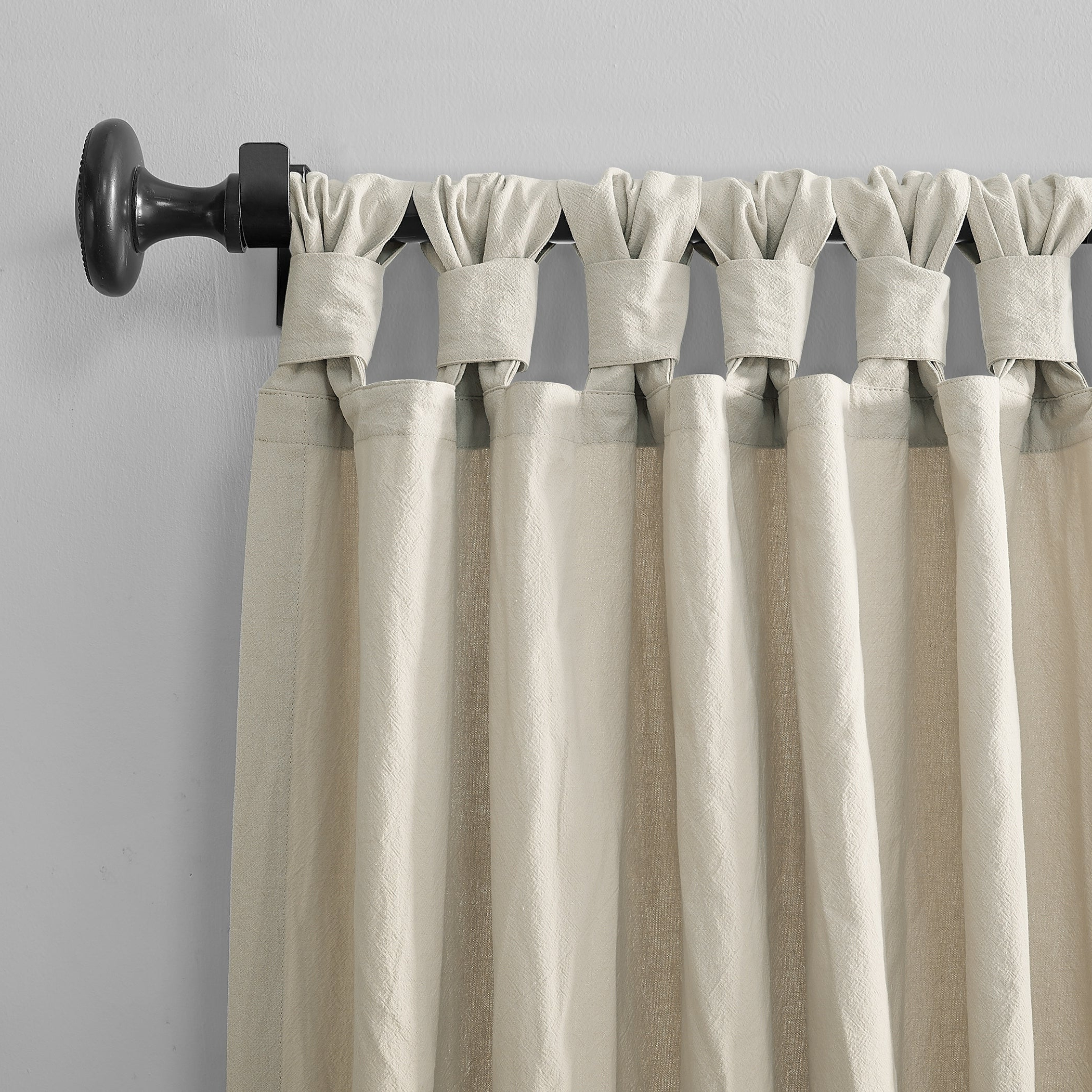 Most Up To Date Twisted Tab Lined Single Curtain Panels With Regard To Archaeo Washed Cotton Twist Tab Single Curtain Panel (View 17 of 20)