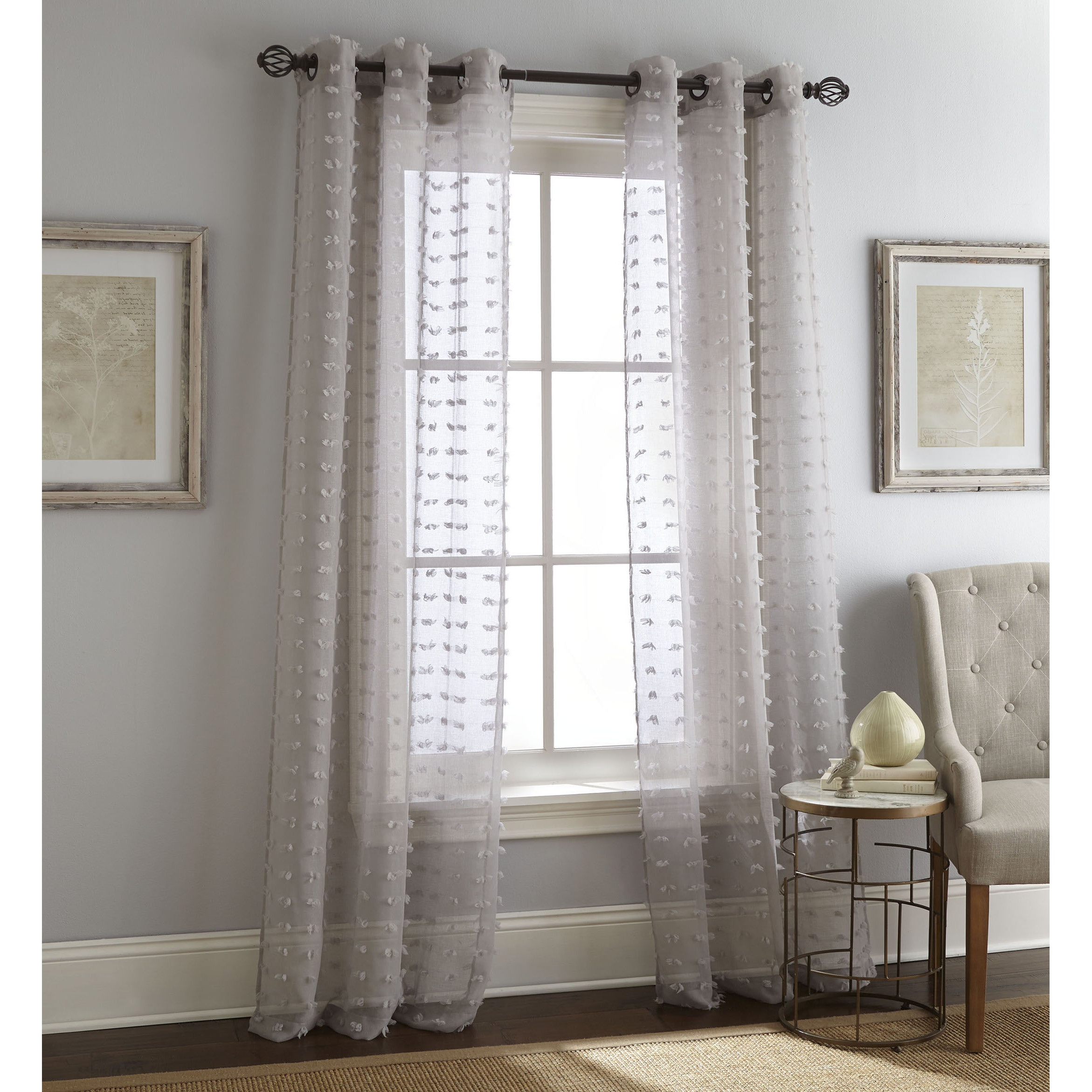 Nanshing Payton Solid Grommet Top Curtain Panel Pair In Most Up To Date Solid Grommet Top Curtain Panel Pairs (View 7 of 20)